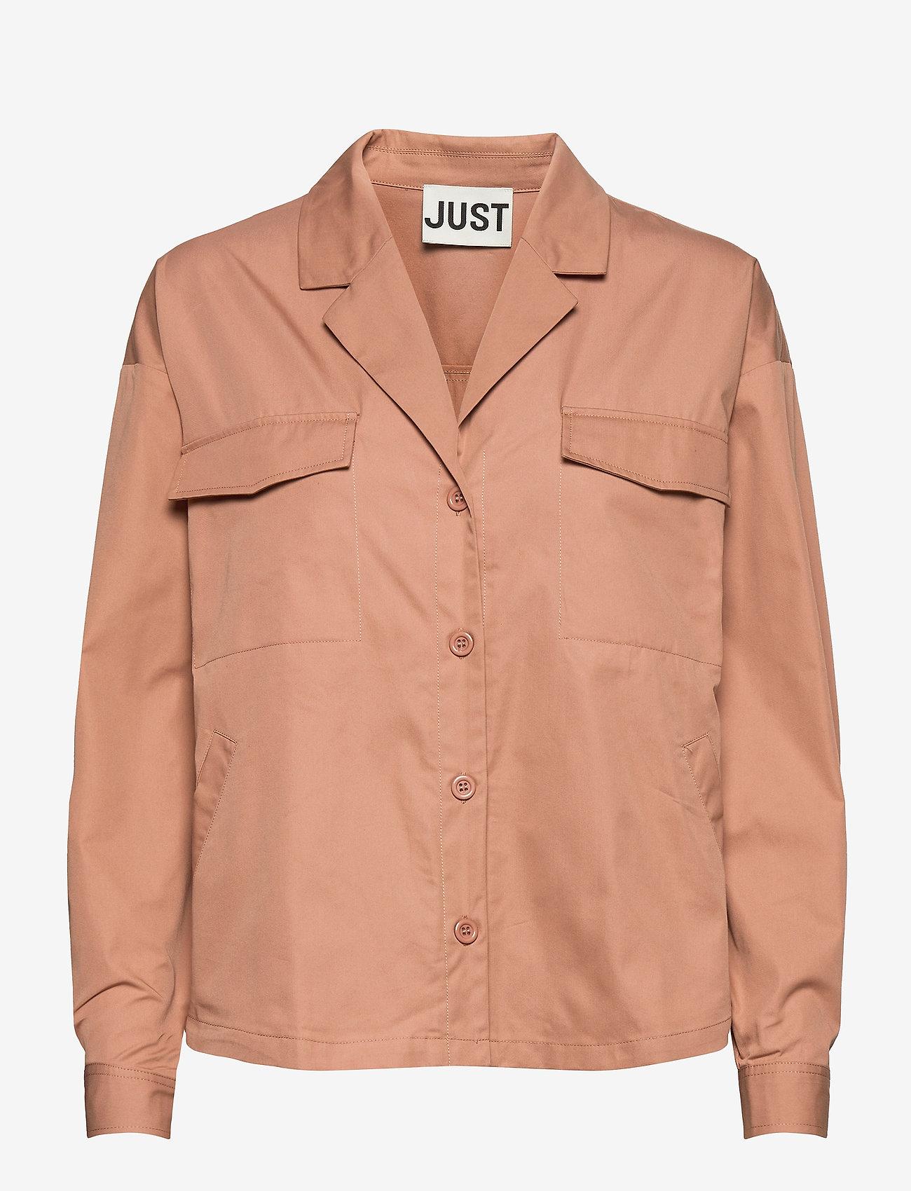 Just Female - Bibi shirt - långärmade skjortor - latte - 0