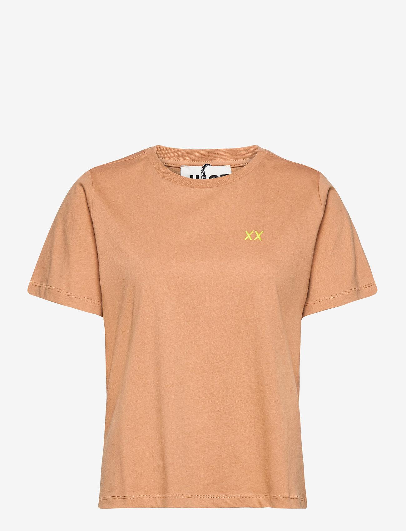 Just Female - Aijan tee - t-shirt & tops - latte - 0