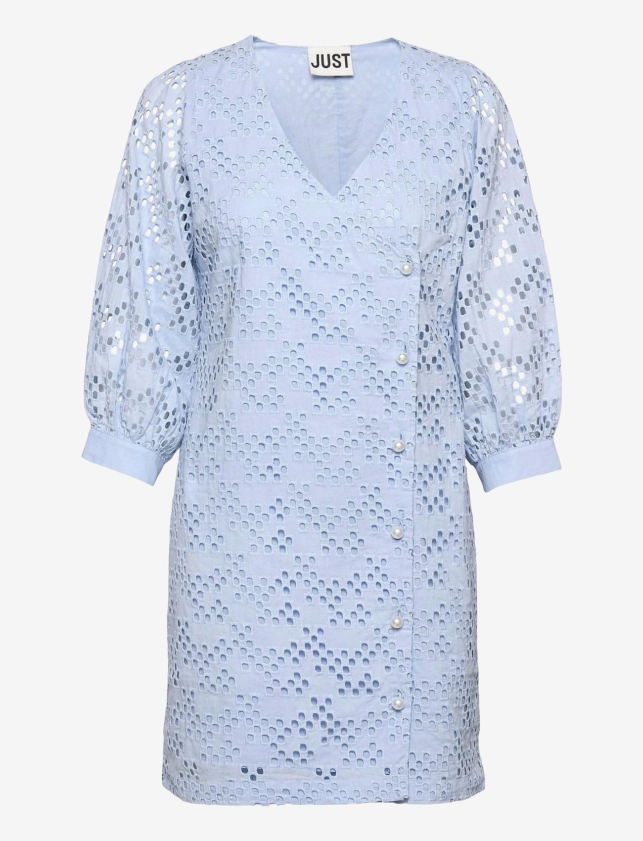 Just Female - Avador wrap dress - sommerkjoler - chambray blue - 0