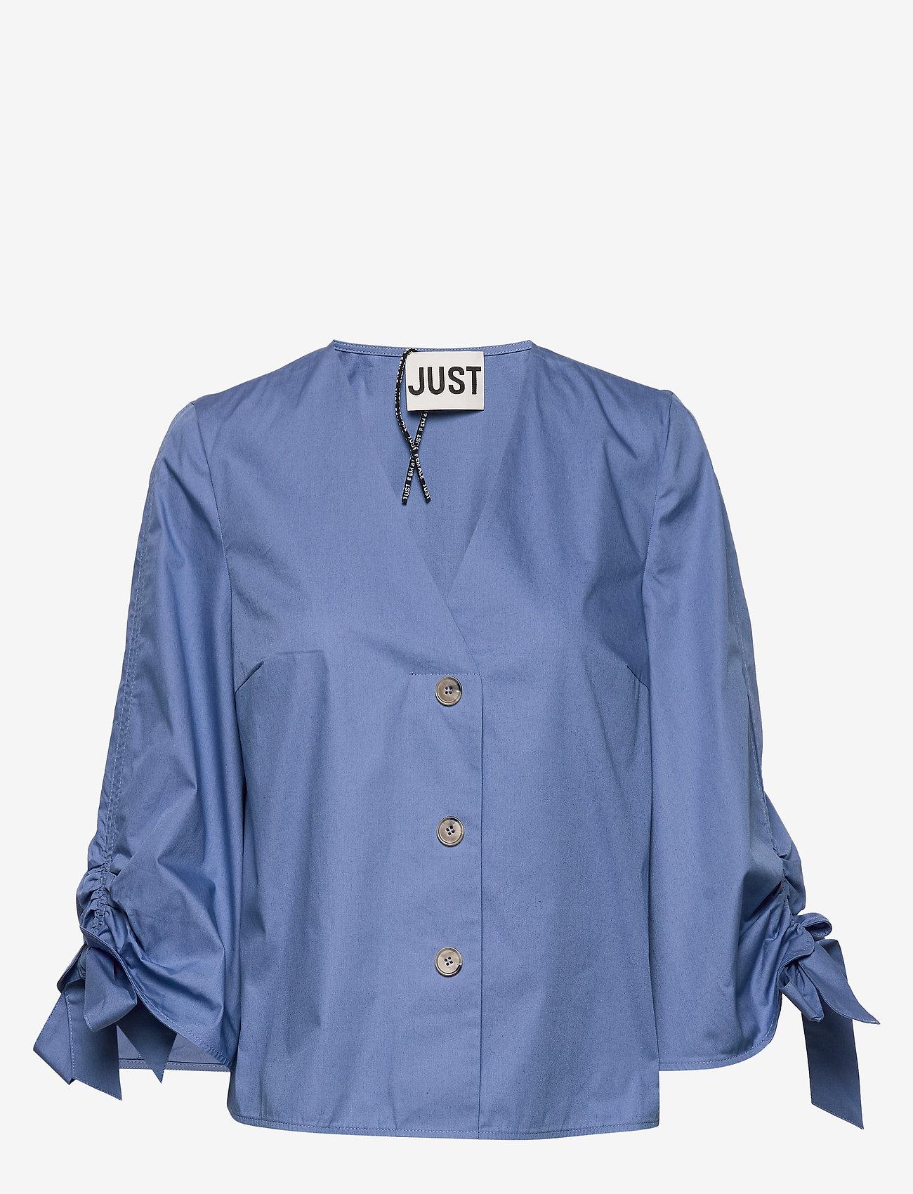 Just Female - Majken blouse - långärmade blusar - riverside - 0