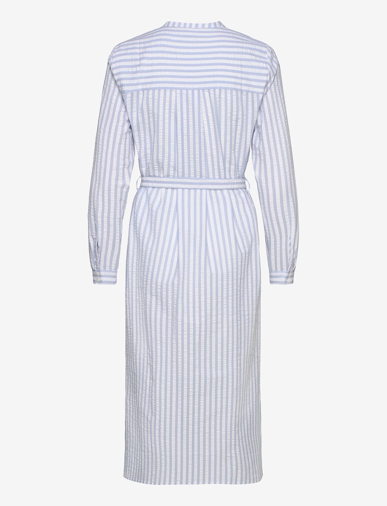 Just Female - Payton long shirt - midi dresses - chambray stripe - 1