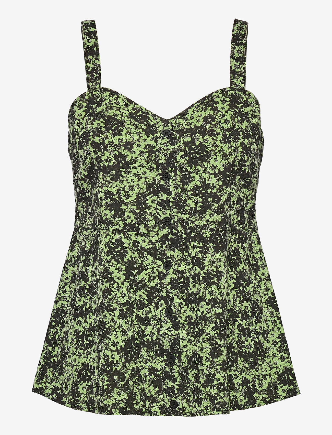 Just Female - Alicia top - sleeveless blouses - tropical sap green - 0