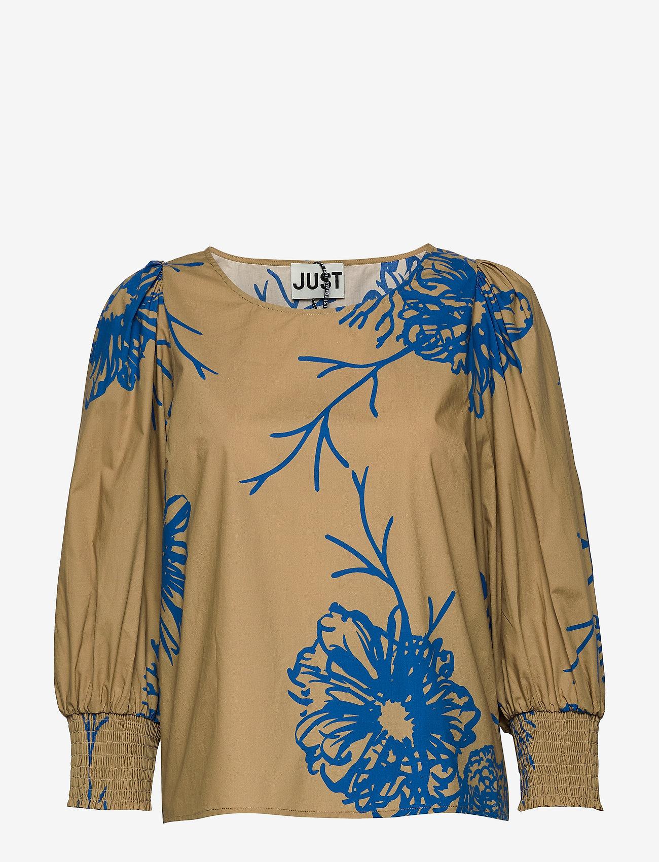 Just Female - Marty blouse - long sleeved blouses - flora grande aop - 0