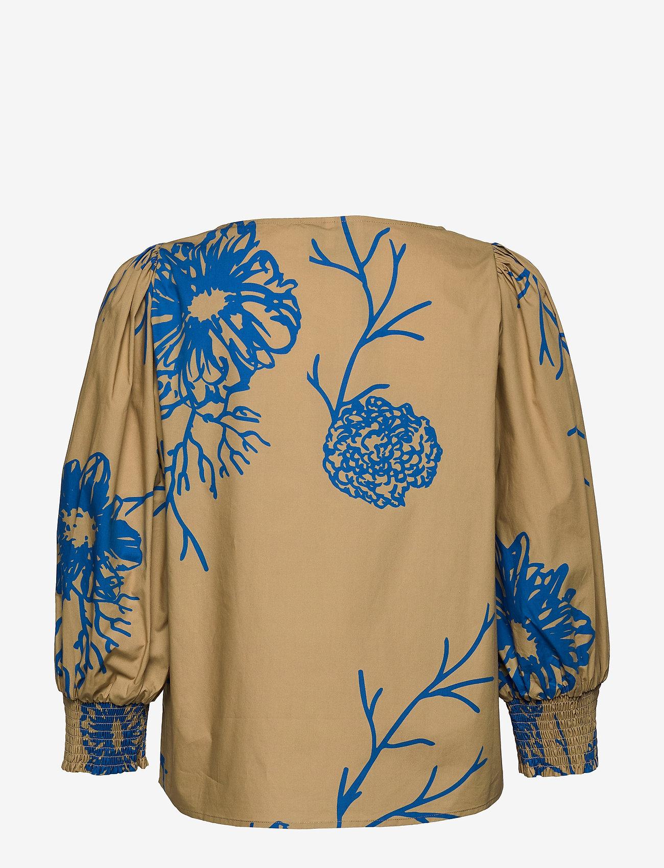Just Female - Marty blouse - long sleeved blouses - flora grande aop - 1
