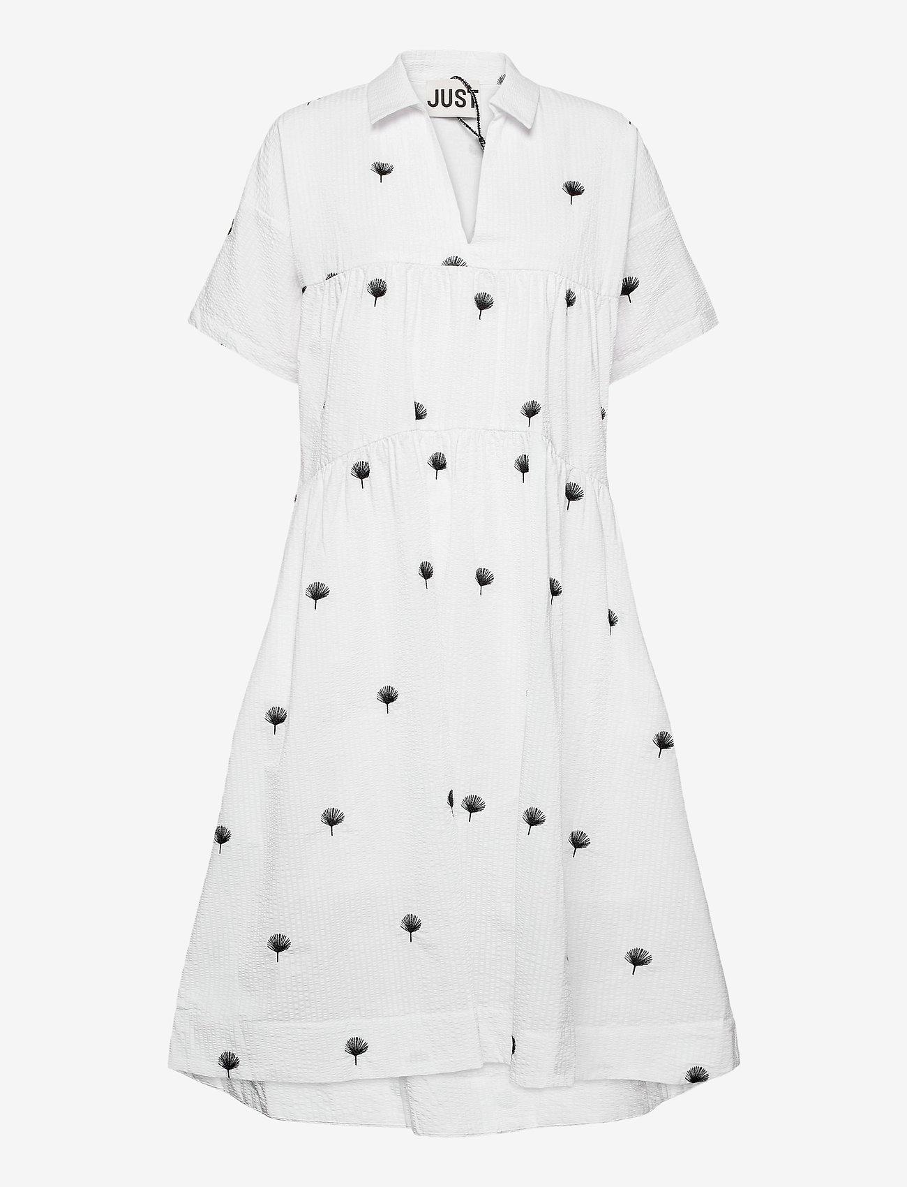 Just Female - Freja dress - midiklänningar - off white - 0