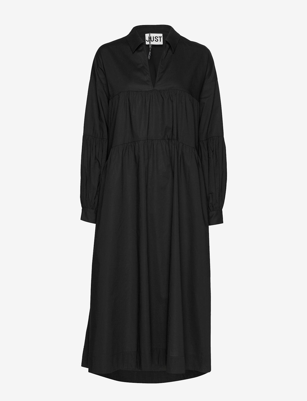 Just Female - Mandy maxi dress - midiklänningar - black - 0