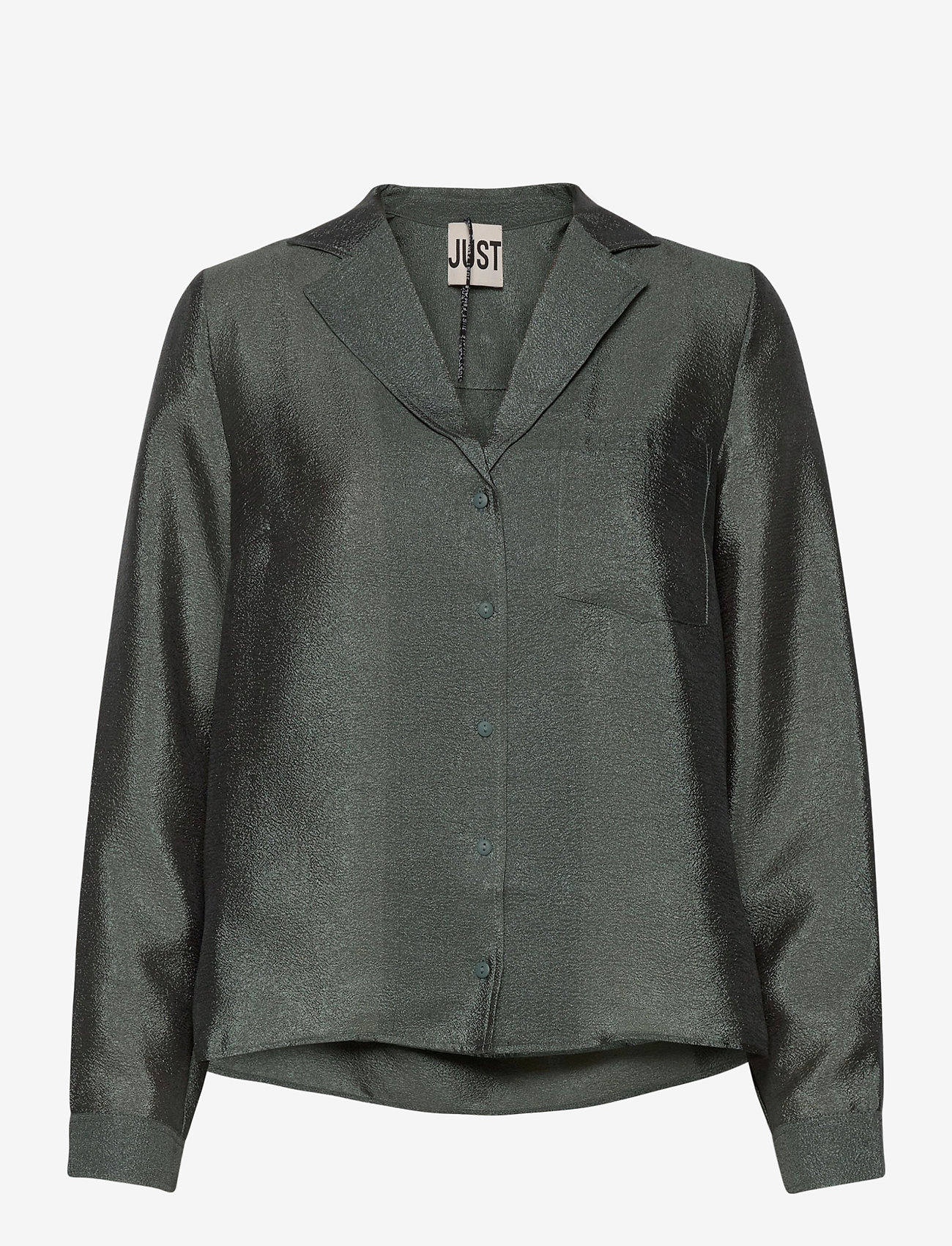 Just Female - Mae shirt - long sleeved blouses - balsam green - 1