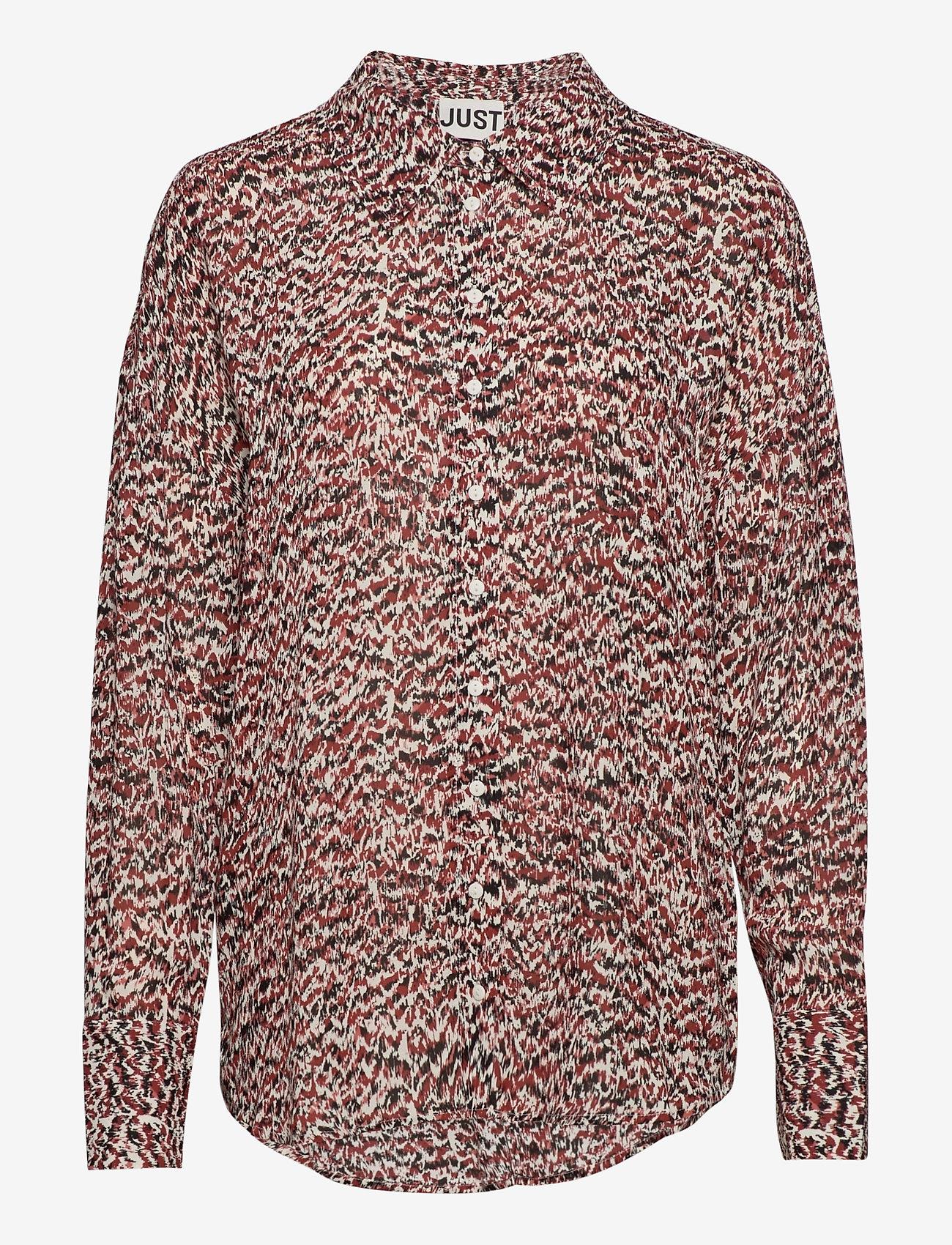Just Female - Virginia shirt - långärmade skjortor - sketchy ikat aop - 0