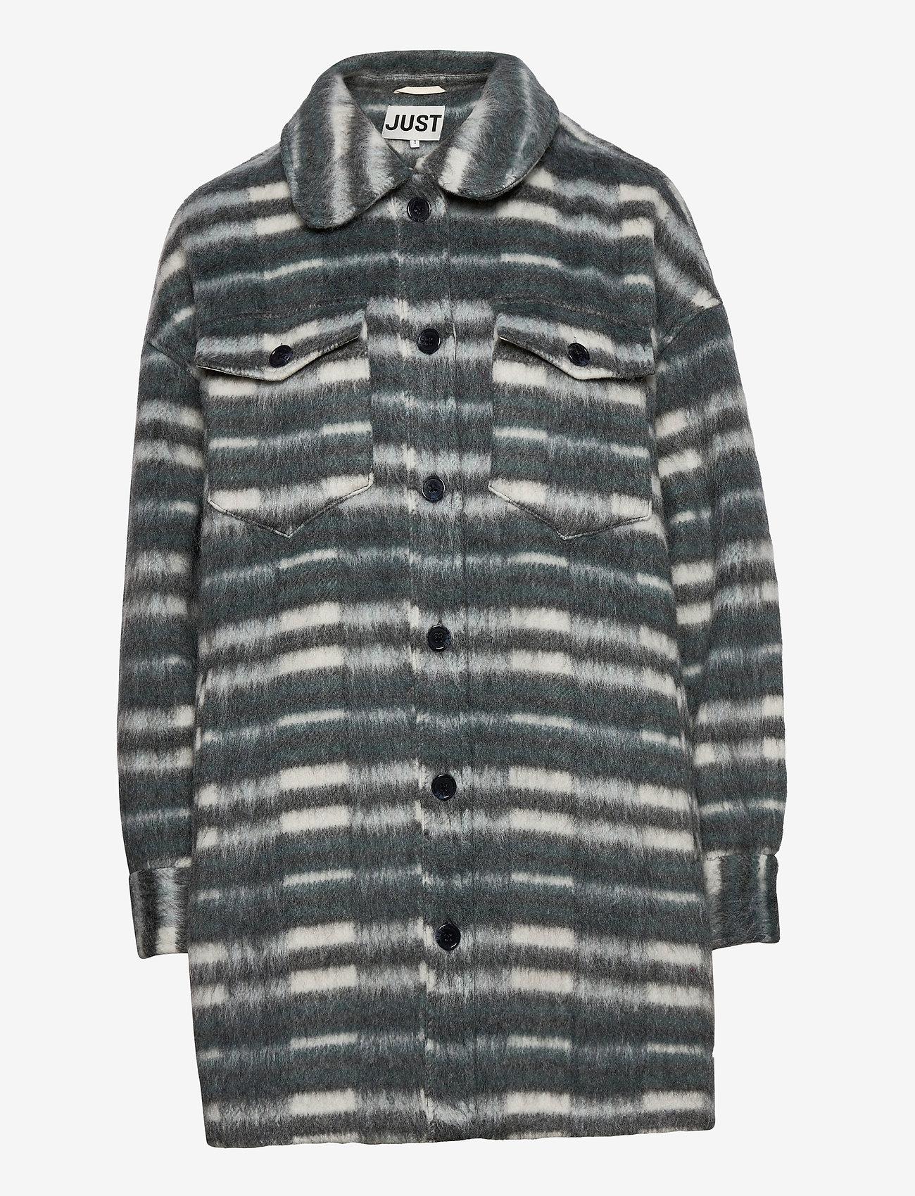 Just Female - Gail jacket - wool jackets - balsam check - 1
