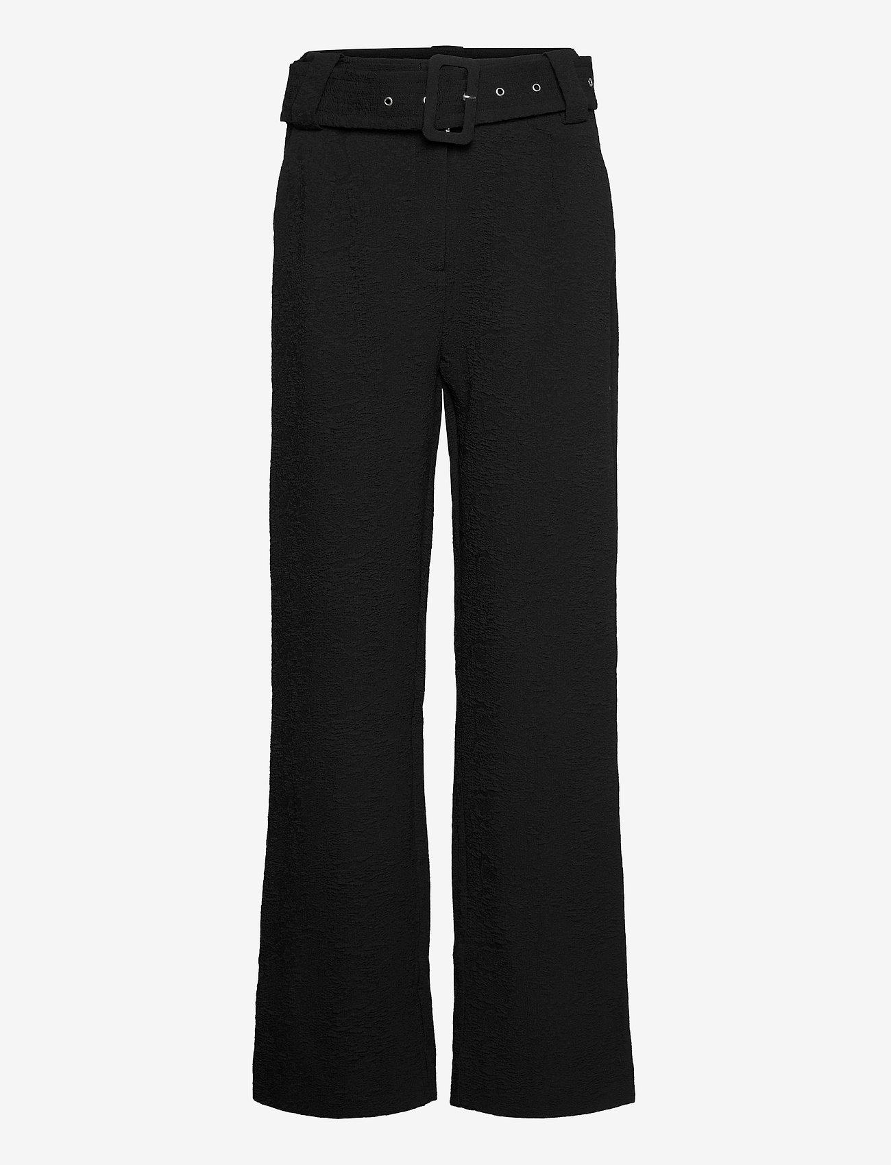 Just Female - Bonnie trousers - wide leg trousers - black - 1