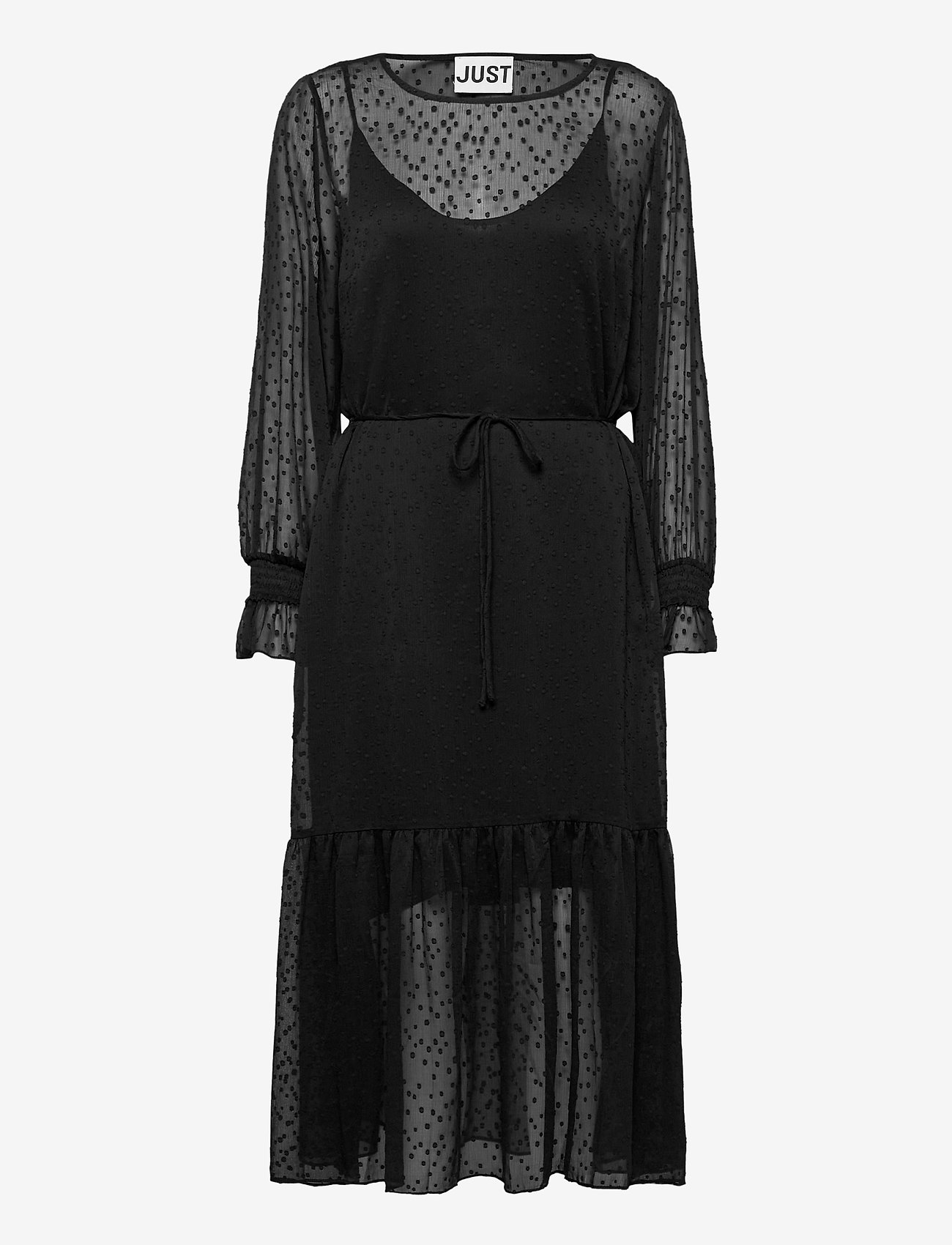 Just Female - Lula maxi dress - midi dresses - black - 0