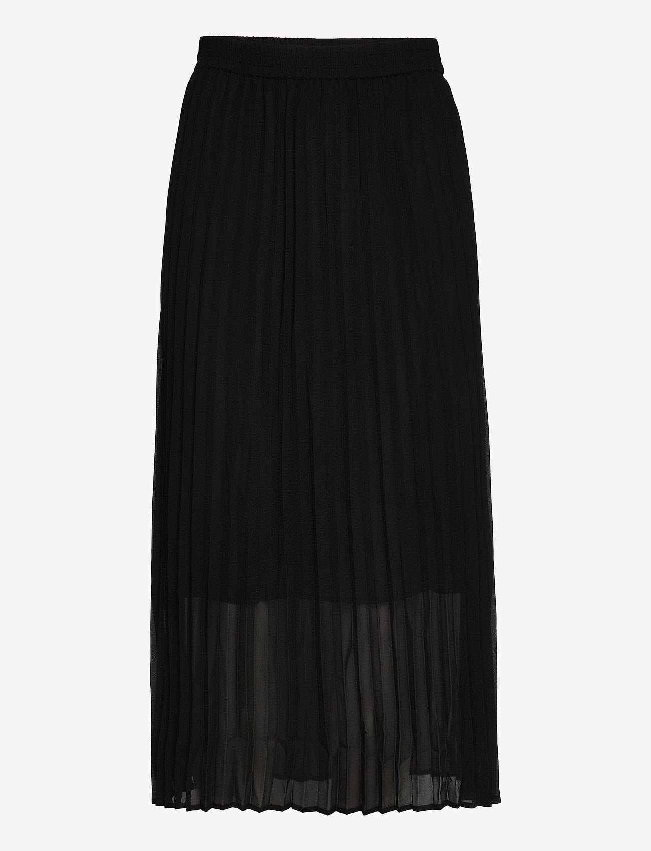 Just Female - Roe pleated skirt - maxi skirts - black - 0