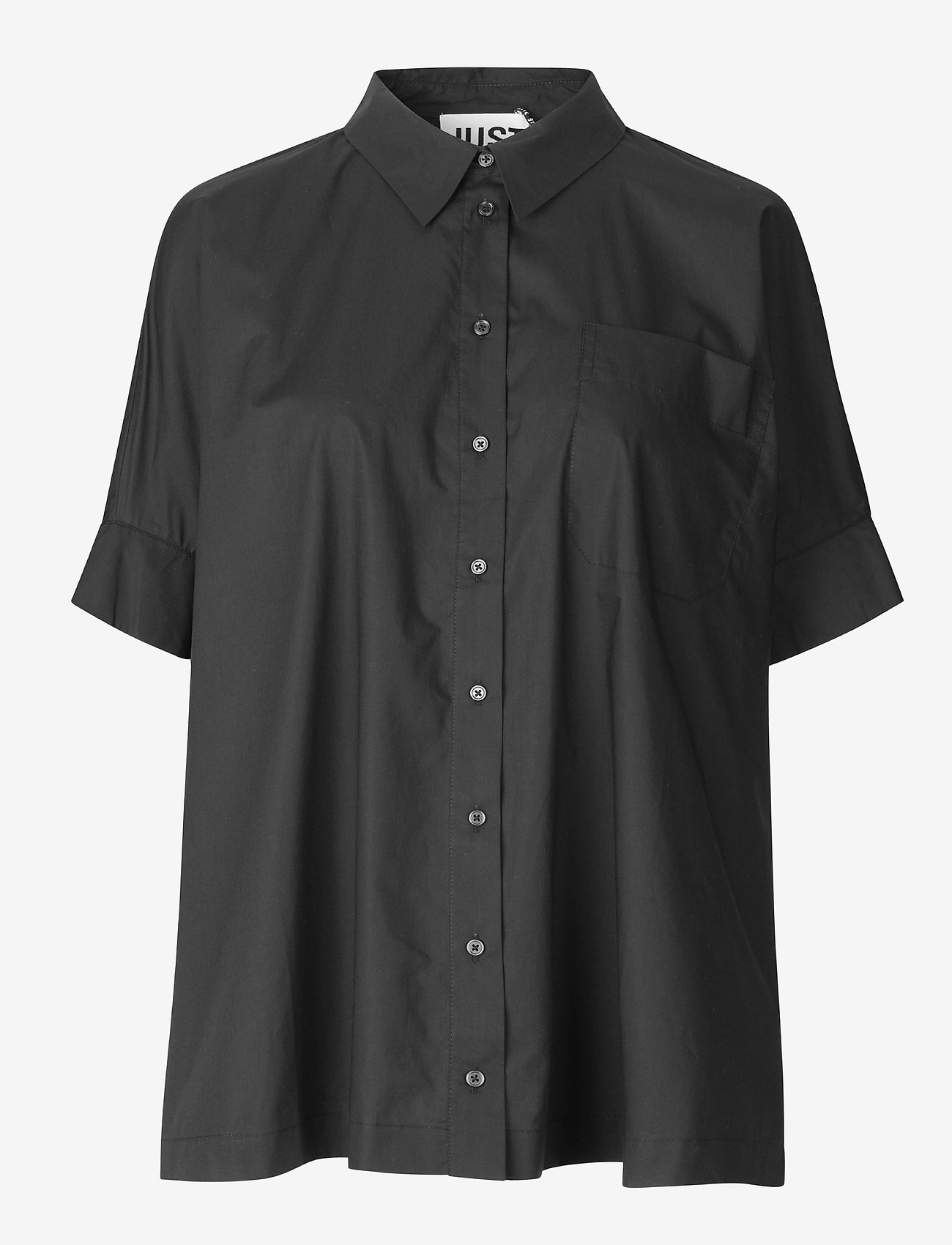 Just Female - Noria shirt - kortärmade skjortor - black - 0