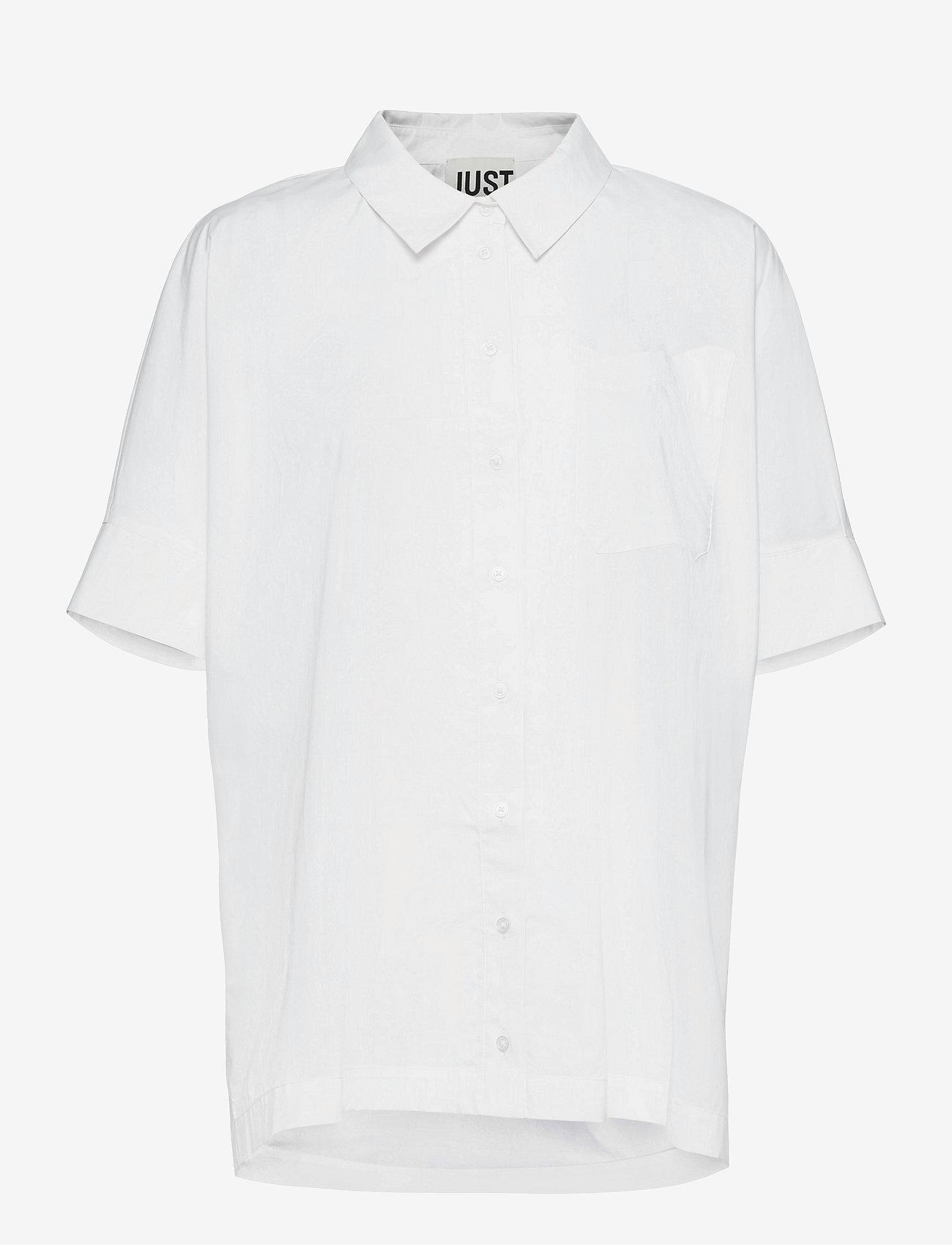 Just Female - Noria shirt - kortärmade skjortor - white - 0