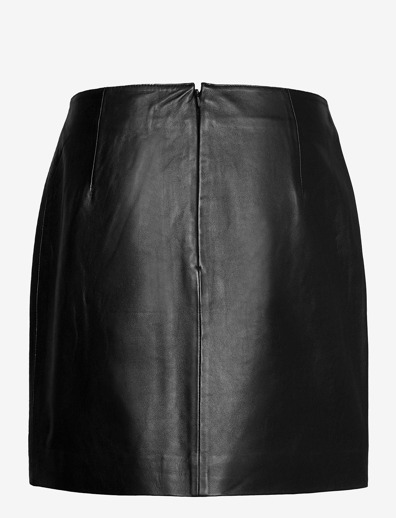 Just Female - Moon leather skirt - short skirts - black - 1