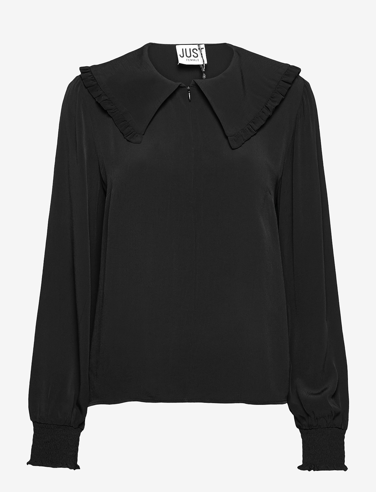 Just Female - Lima blouse - long sleeved blouses - black - 1