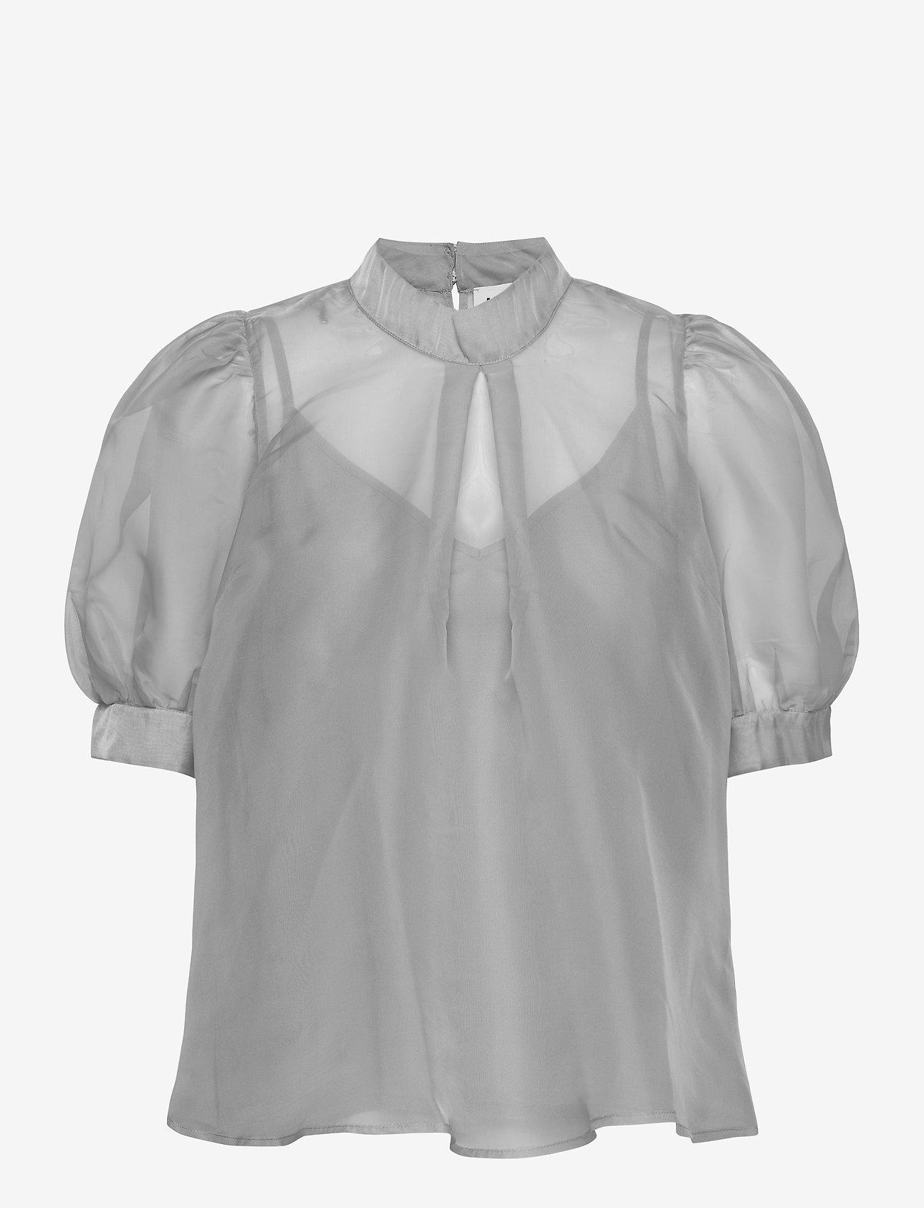 Just Female - Marissa blouse - kortärmade blusar - ballad blue - 1