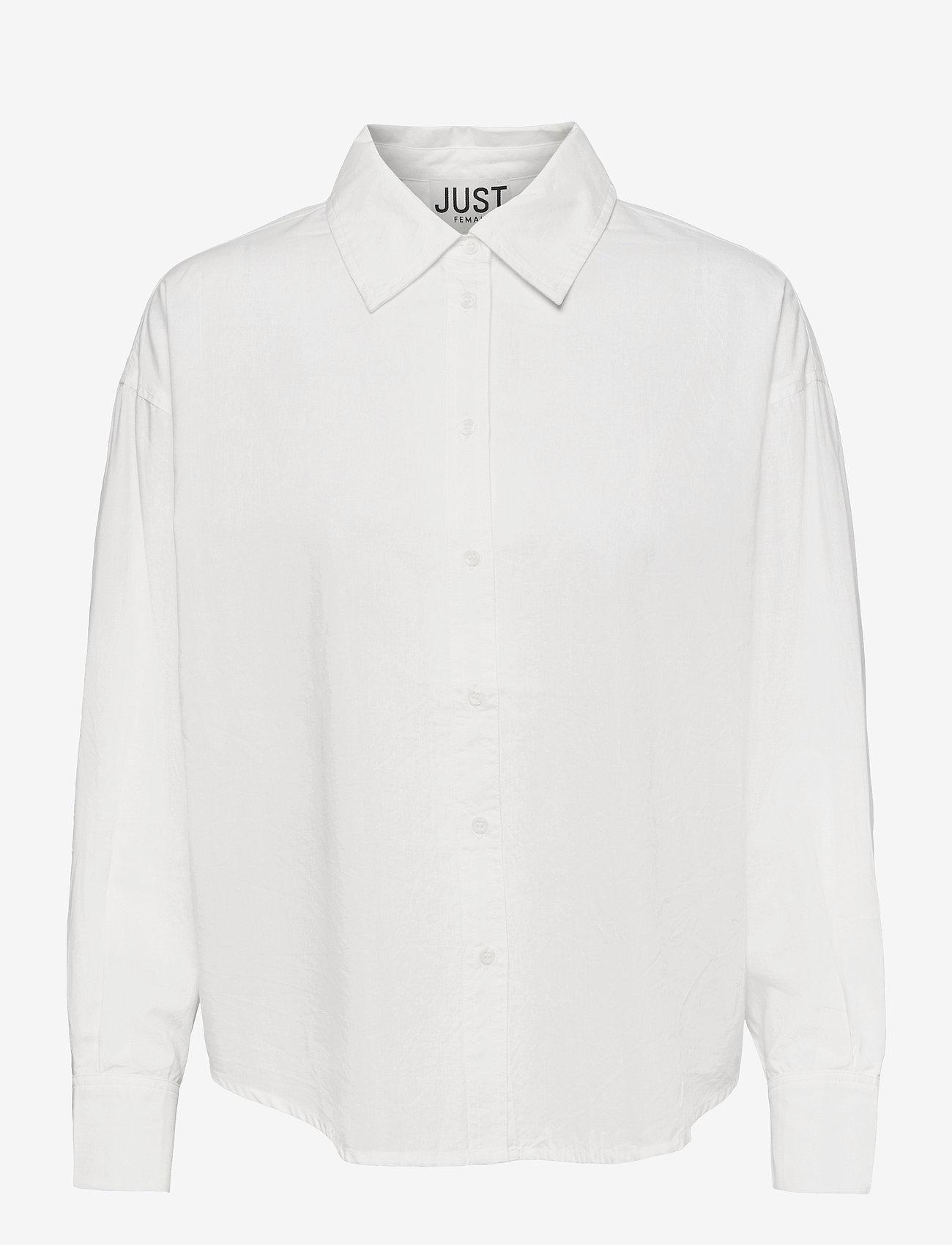 Just Female - Texas shirt - long-sleeved shirts - white - 1