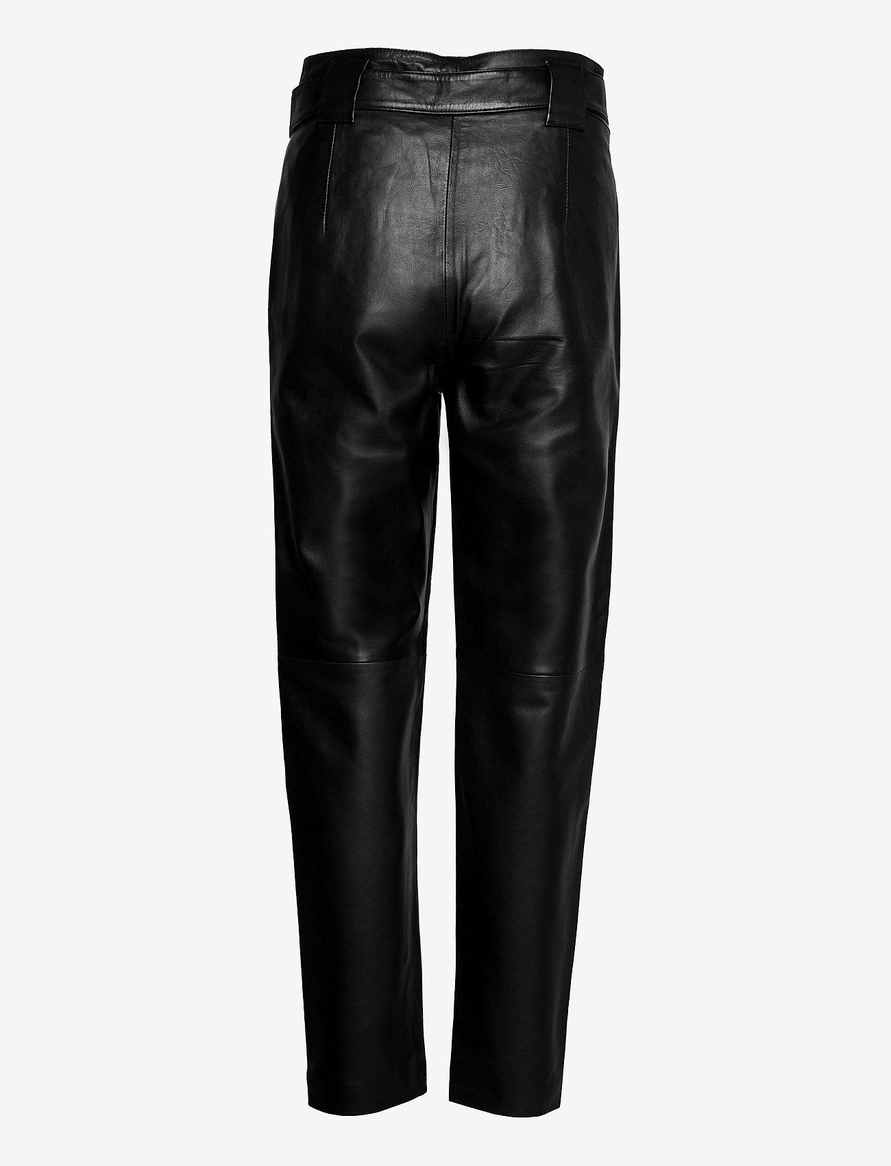 Just Female - Nago leather trousers - læderbukser - black - 1