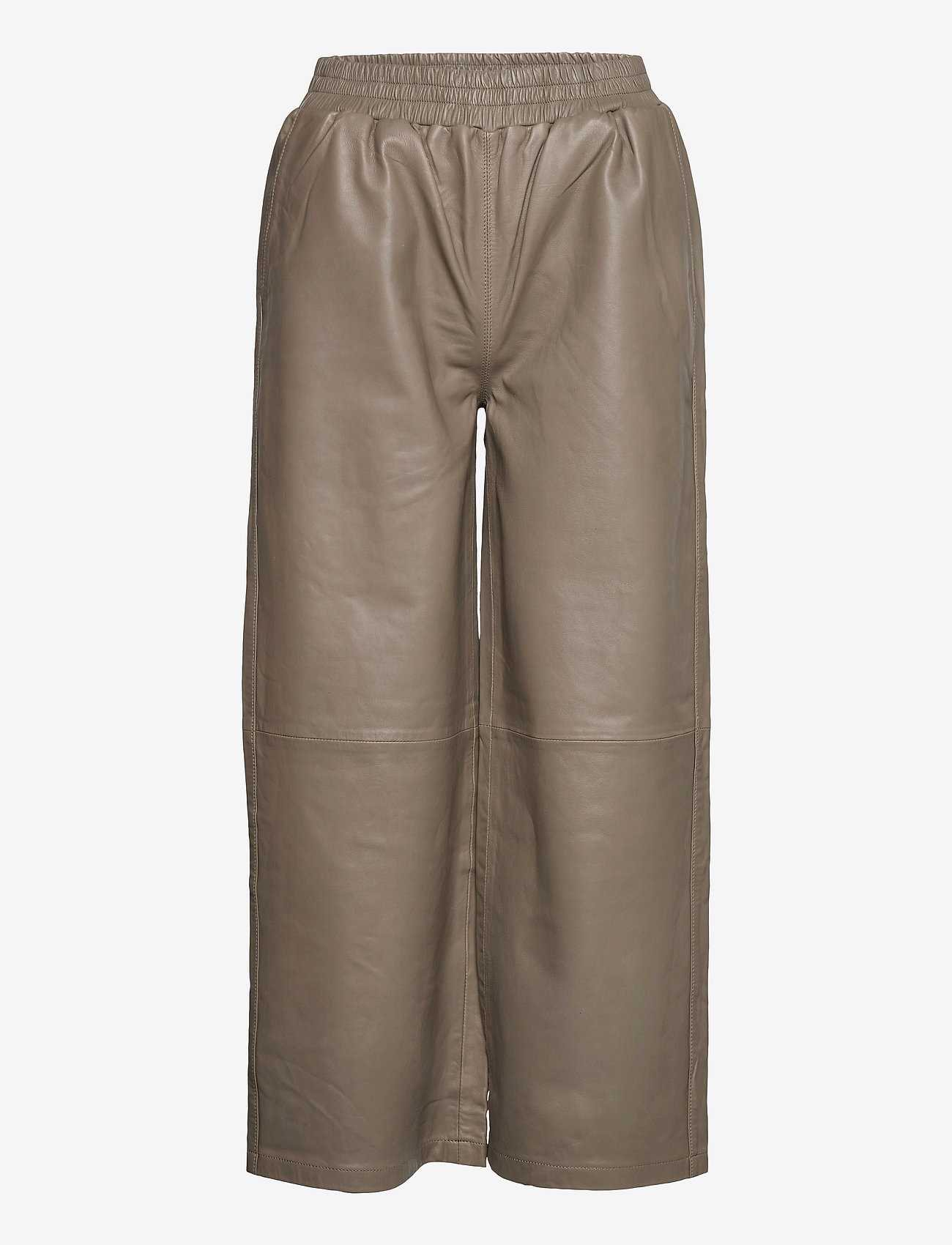 Just Female - Roy leather trousers - skinnbyxor - grey - 0