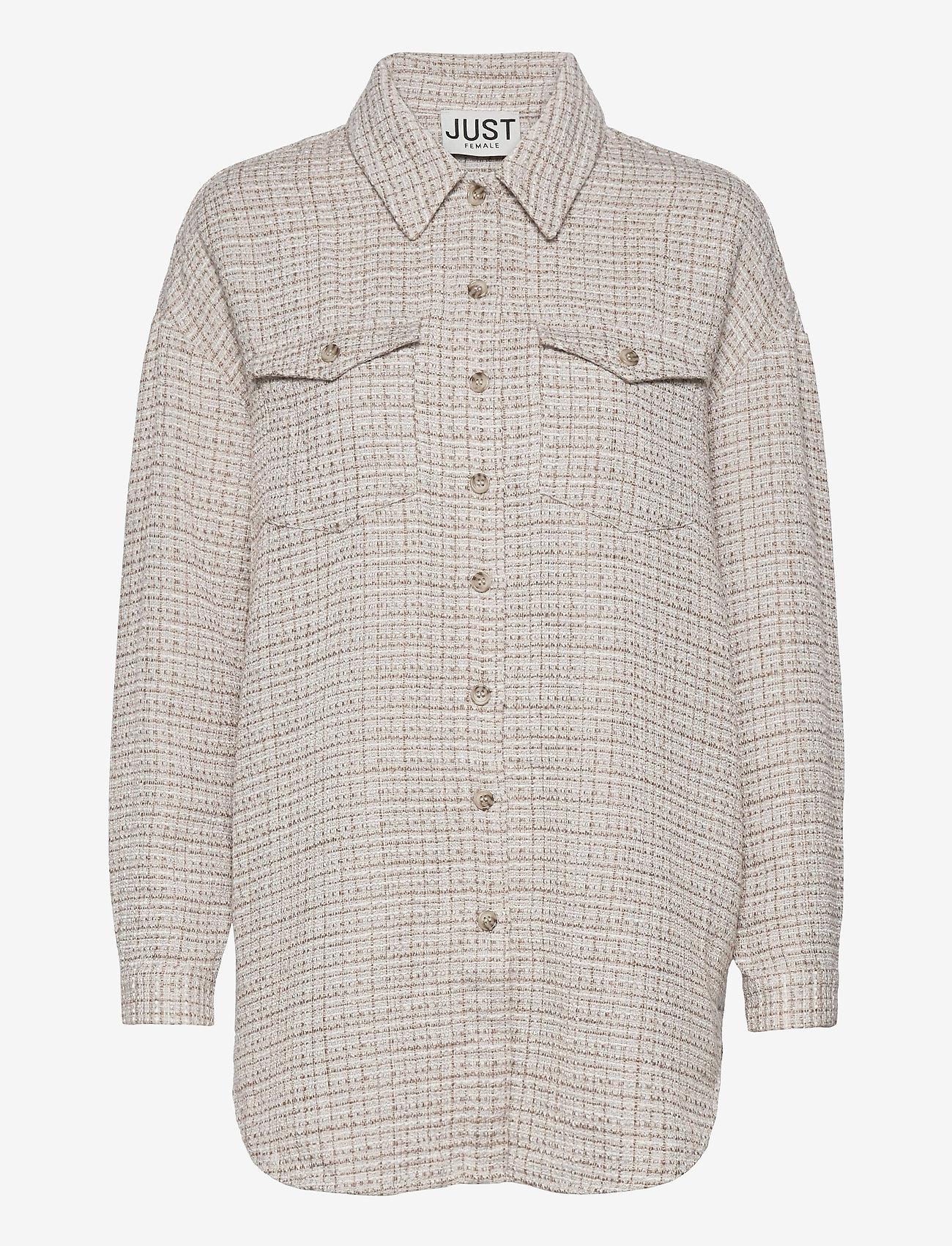 Just Female - Metz shirt - overshirts - ice grey stone mix - 1