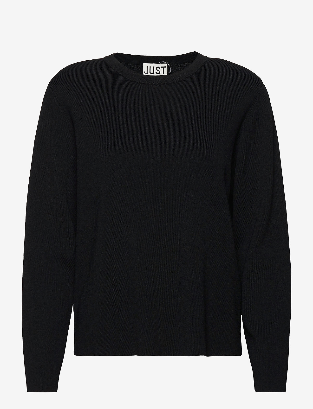 Just Female - Manta knit - jumpers - black - 1