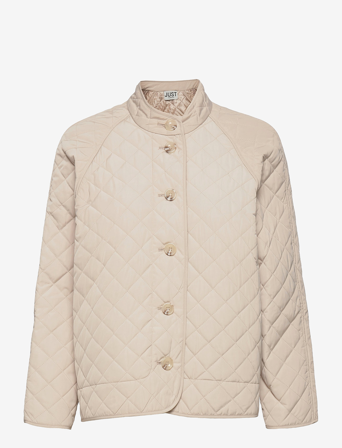 Just Female - Hisar jacket - quilted jackets - pumice stone - 1