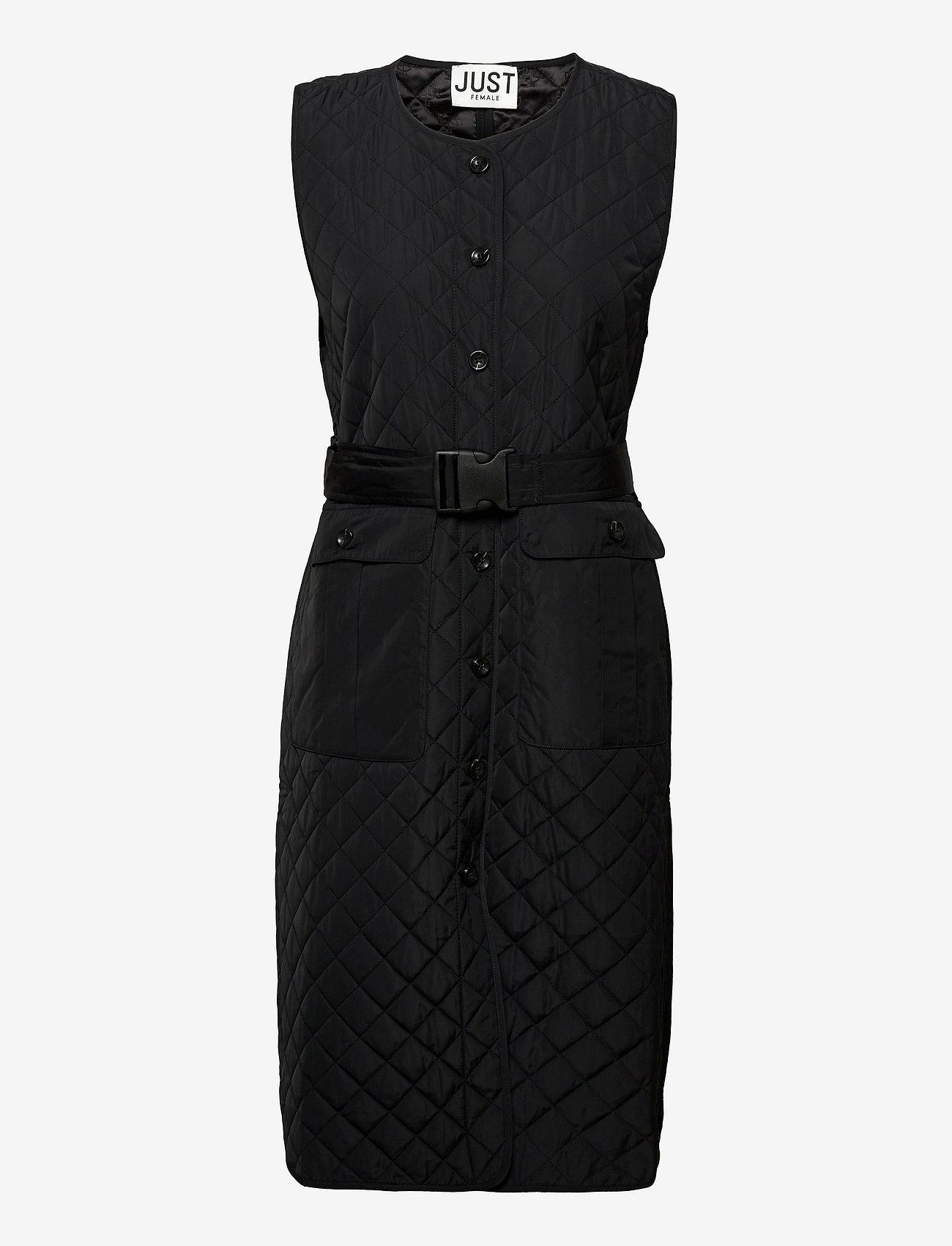 Just Female - Hisar vest - puffer vests - black - 1