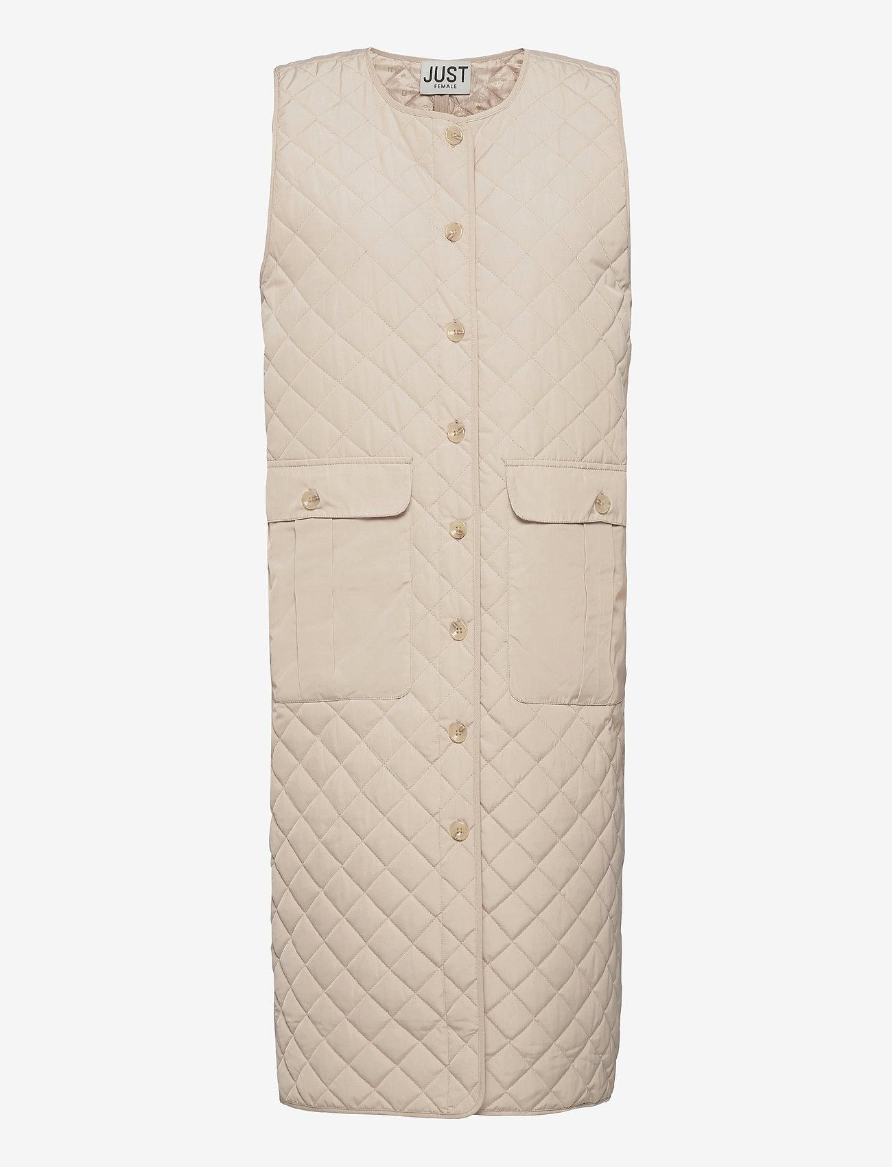 Just Female - Hisar vest - puffer vests - pumice stone - 1