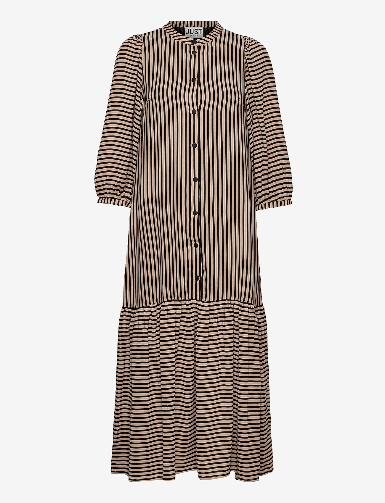 Just Female - Colorado maxi dress - maxi dresses - cobblestone stripe - 1