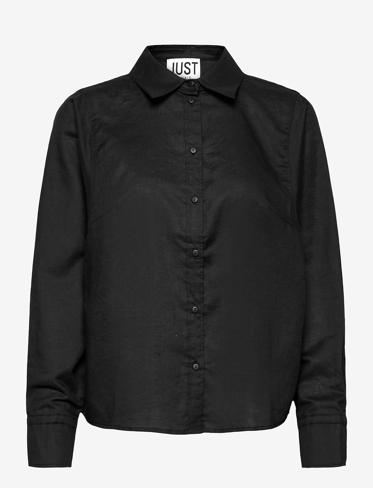 Just Female - Collin shirt - long-sleeved shirts - black - 0