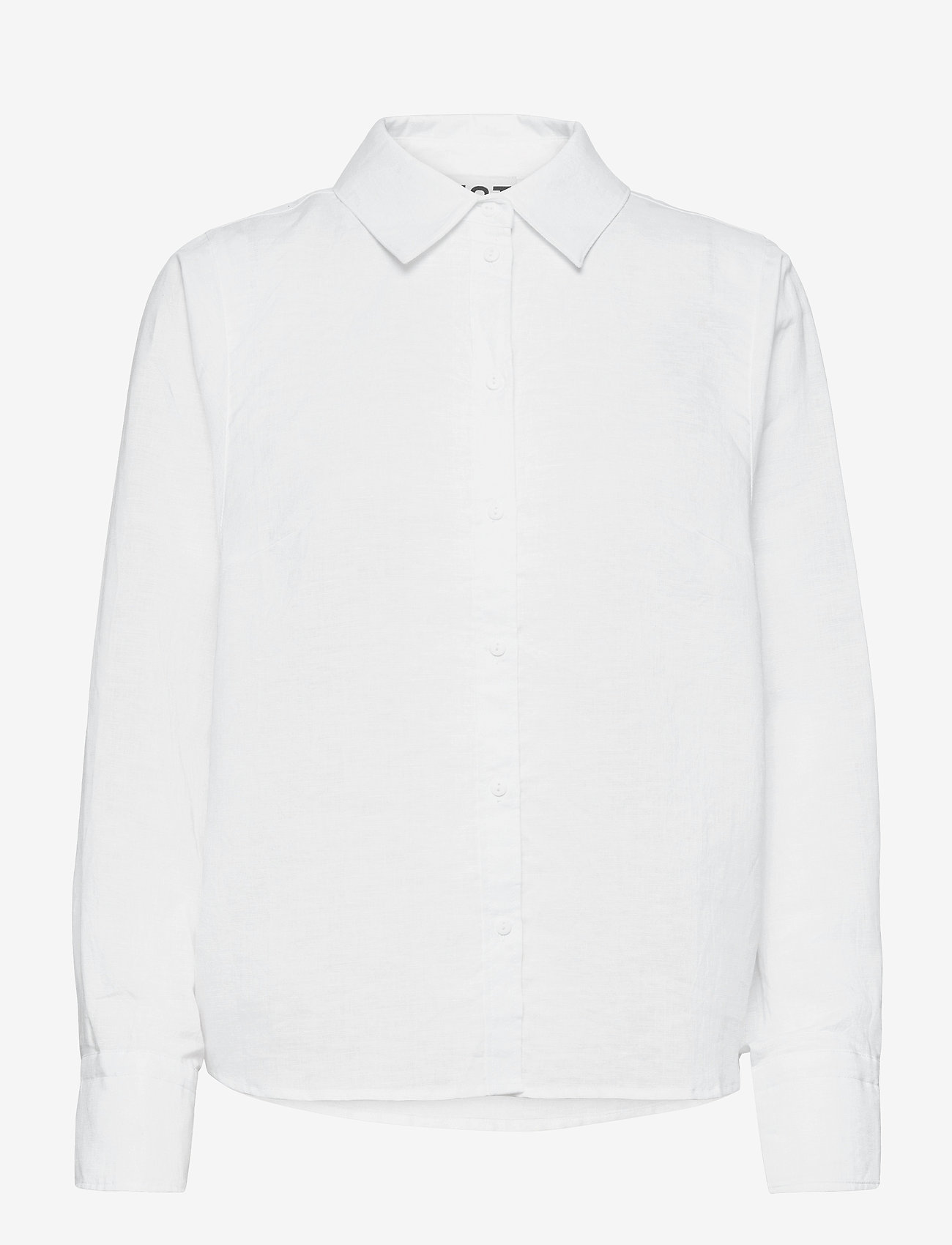 Just Female - Collin shirt - long-sleeved shirts - white - 0