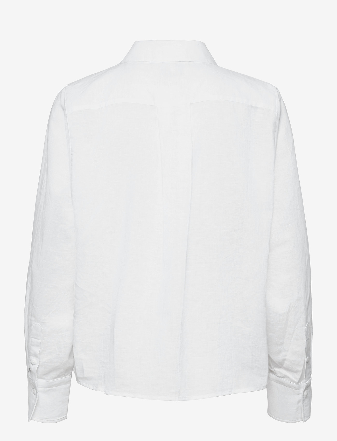 Just Female - Collin shirt - long-sleeved shirts - white - 1