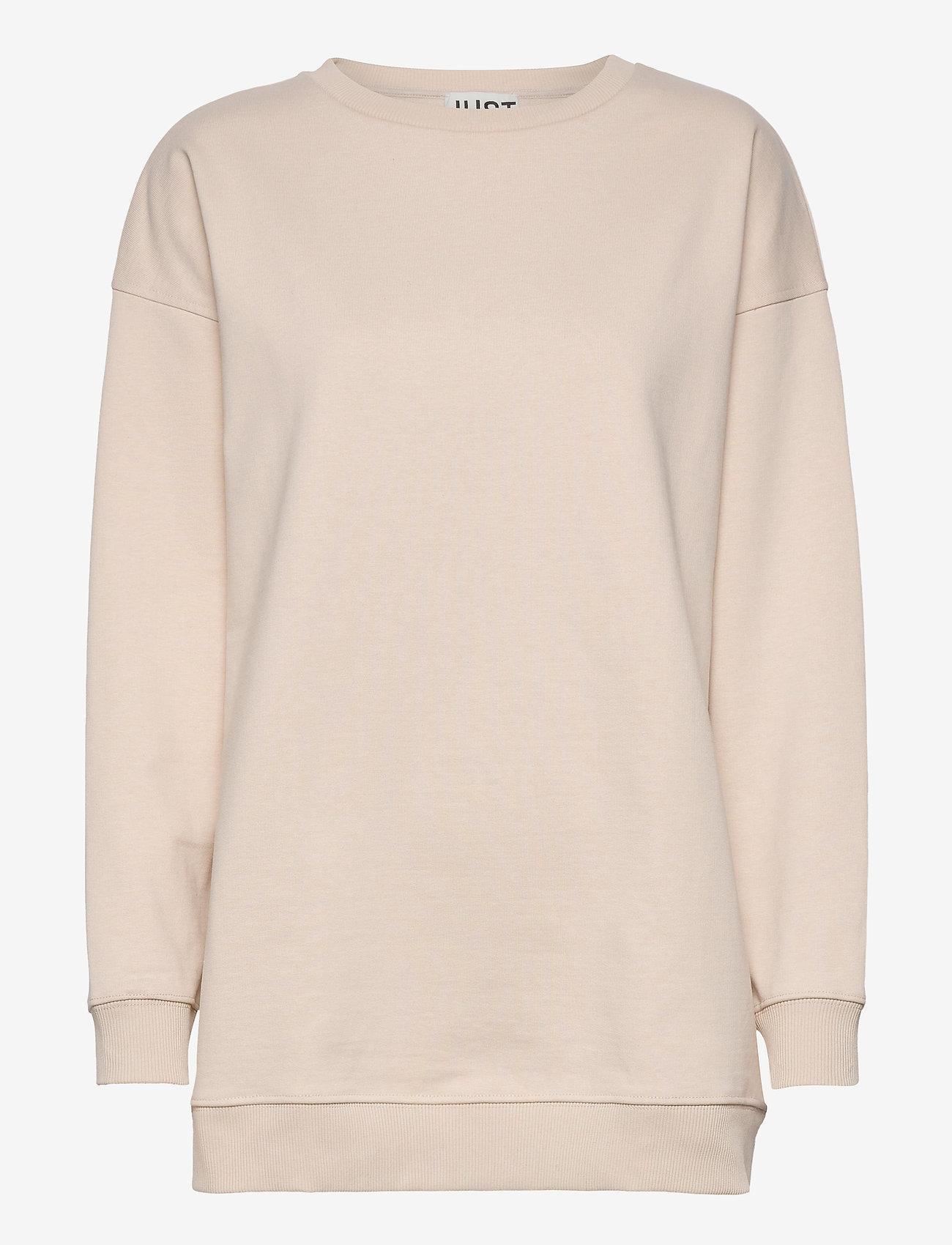 Just Female - Sjulle crewneck - sweatshirts & hoodies - pumice stone - 1
