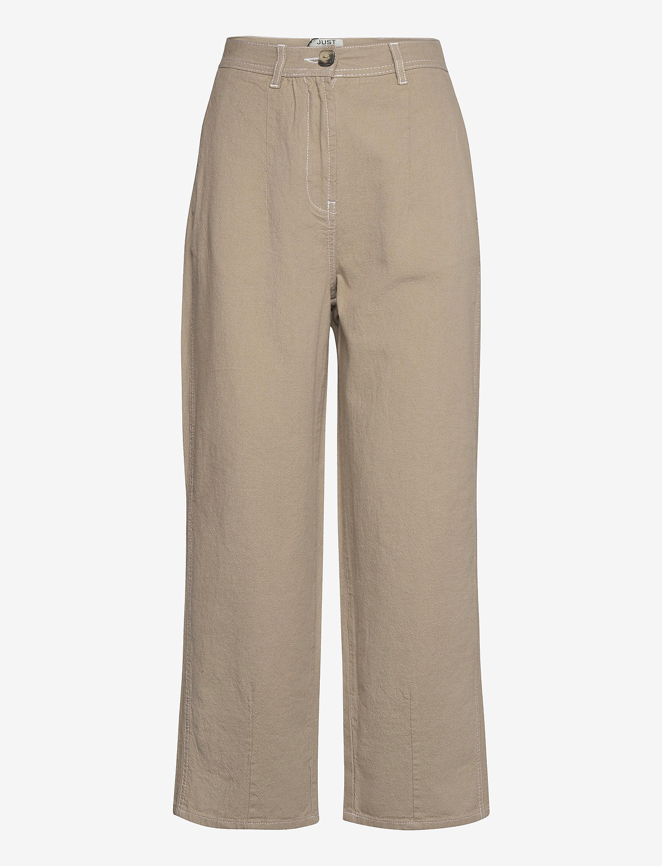 Just Female - Cayenne trousers - wide leg trousers - cobblestone - 1