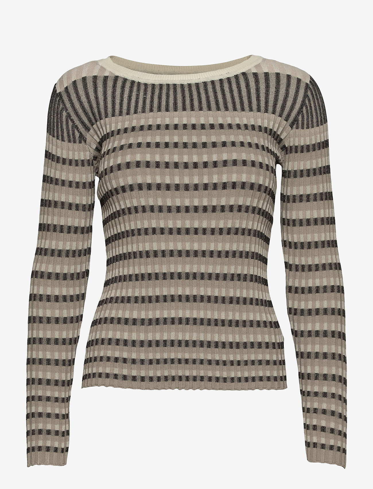 Just Female - Lazio knit - knitted tops - nature stripe - 1