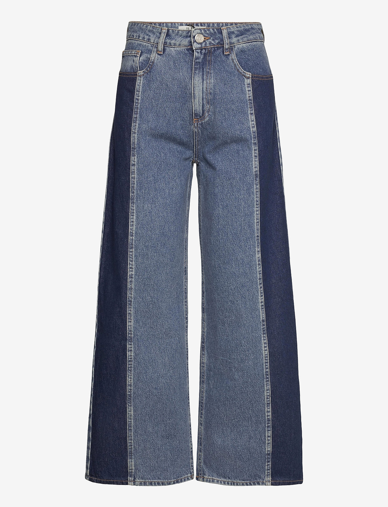 Just Female - Calm jeans mix 0104 - vida byxor - middle blue mix - 1