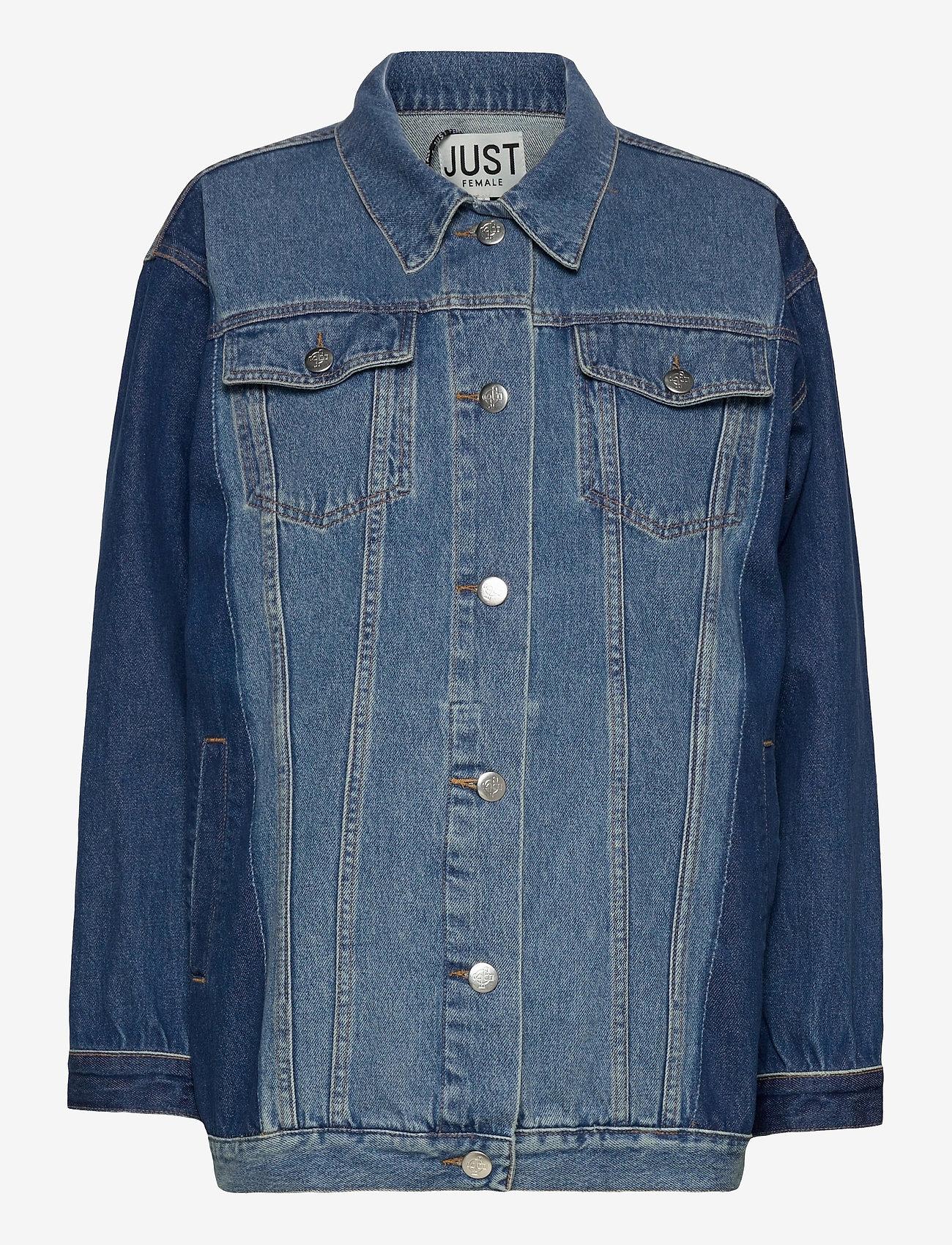 Just Female - Thunder jacket 0104 - denim jackets - middle blue mix - 1