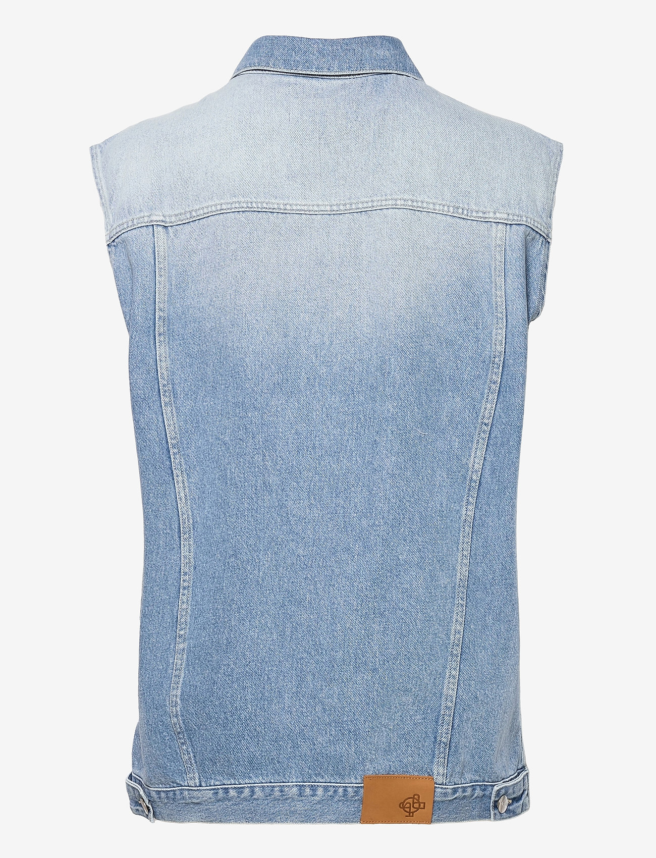 Just Female - Cloud vest 0101 - knitted vests - light waterblue - 2