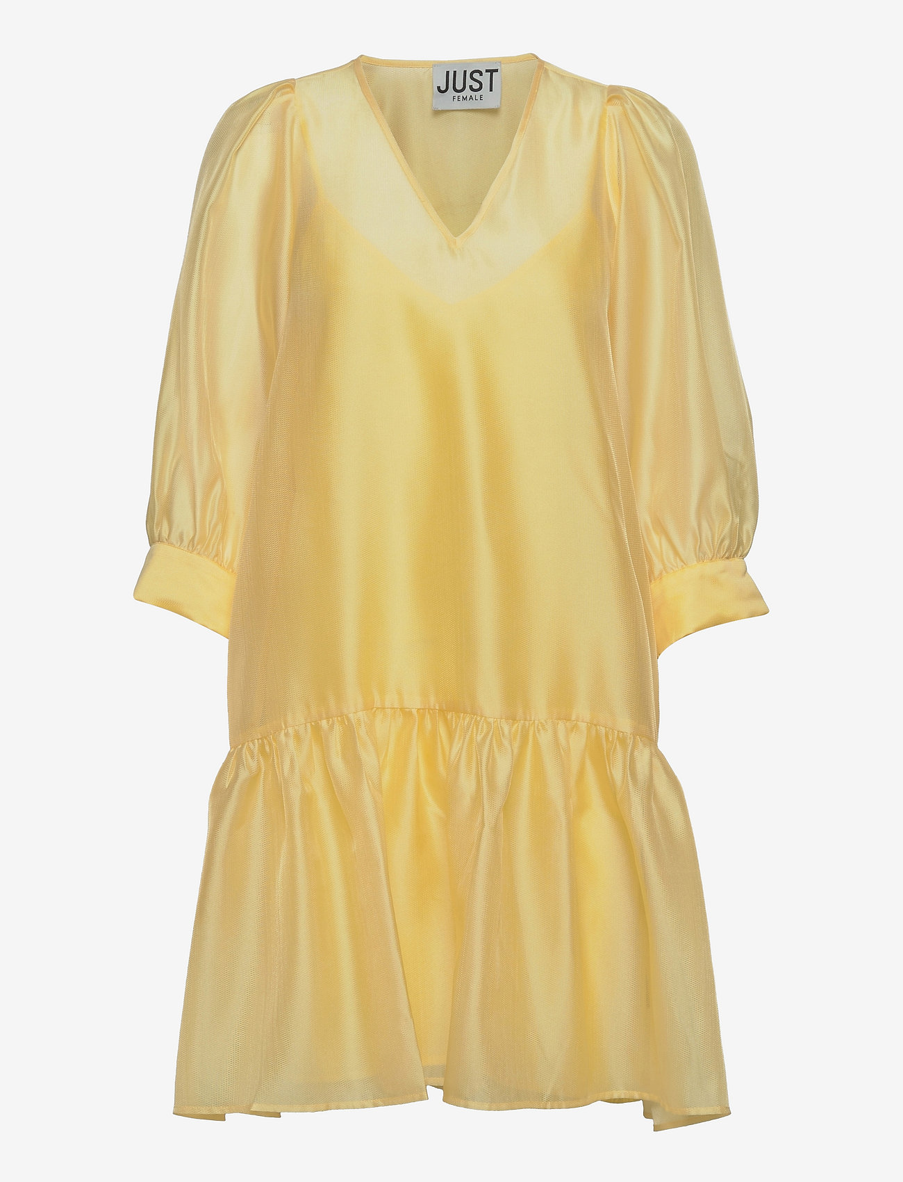 Just Female - Ventura dress - sommerkjoler - lemon grass - 1