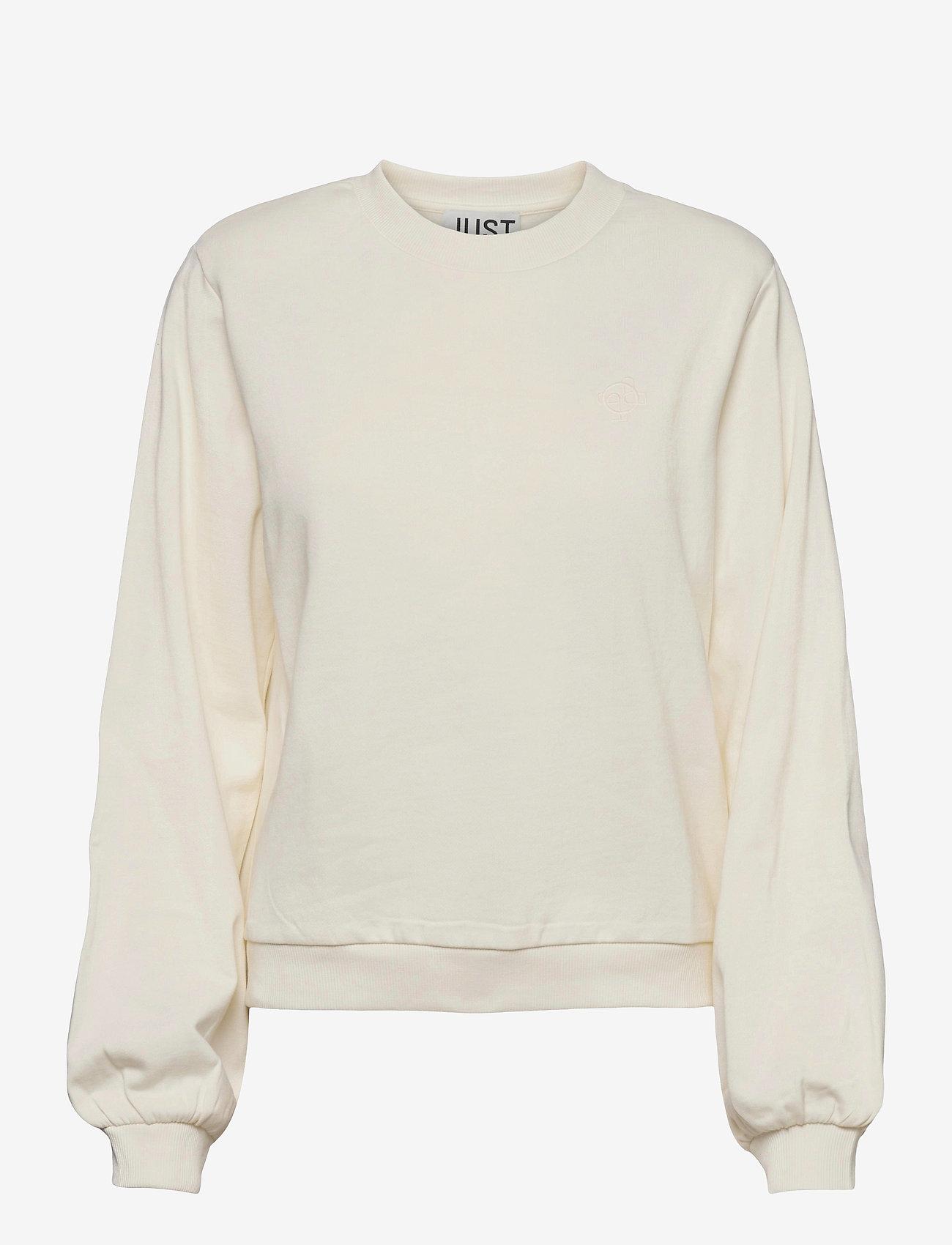 Just Female - Henderson crewneck - sweatshirts & hoodies - off white - 1