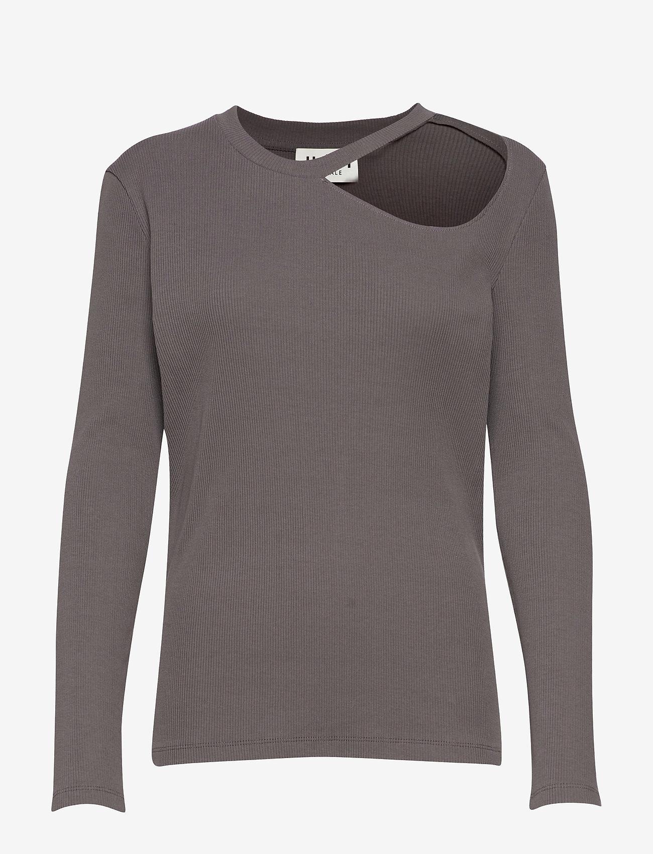 Just Female - Rancho ls tee - t-shirt & tops - pavement - 1