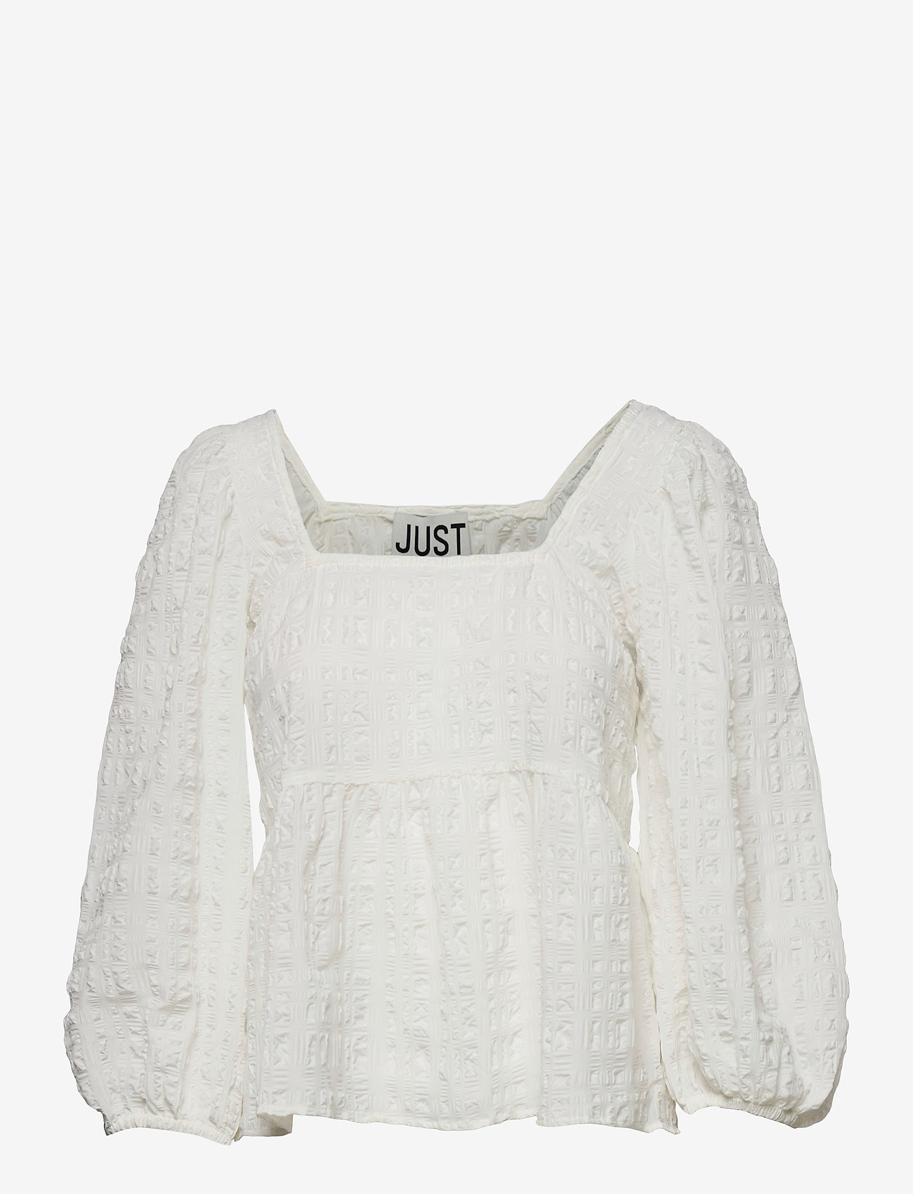 Just Female - Soffia blouse - long sleeved blouses - white - 1