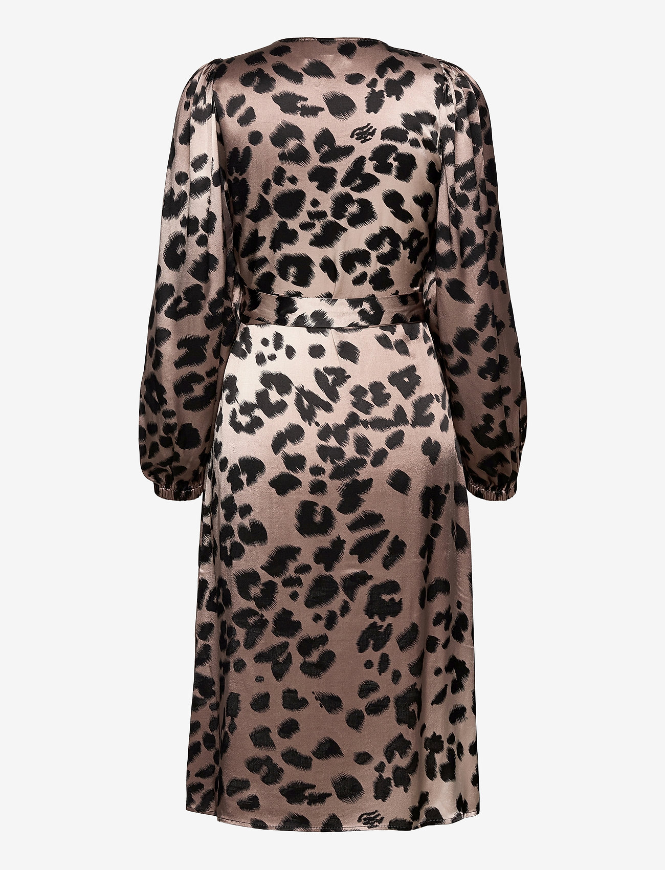 Just Female - Laguna wrap dress - midi dresses - leopard - 1