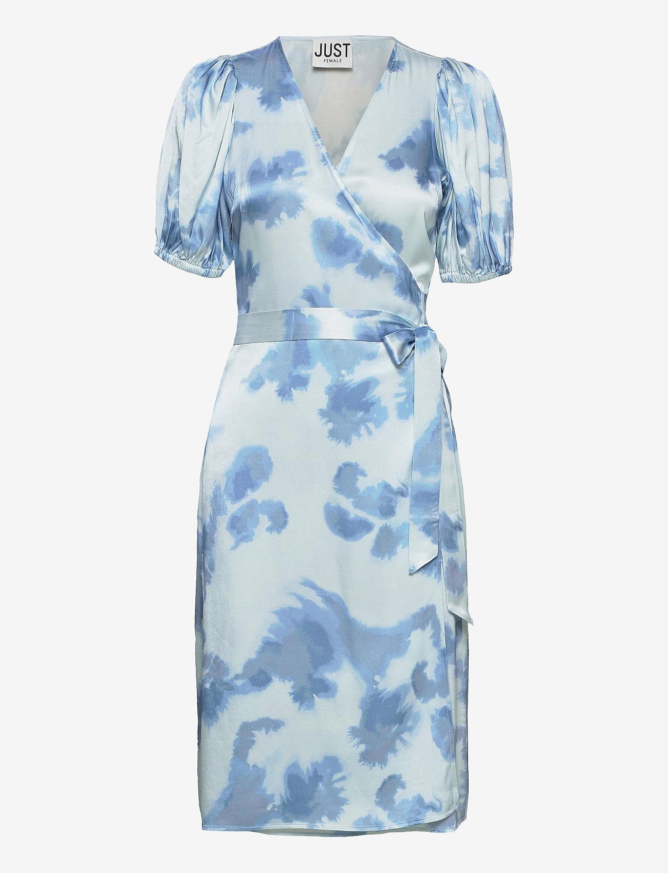 Just Female - Laguni wrap dress - summer dresses - silver lake blue - 1