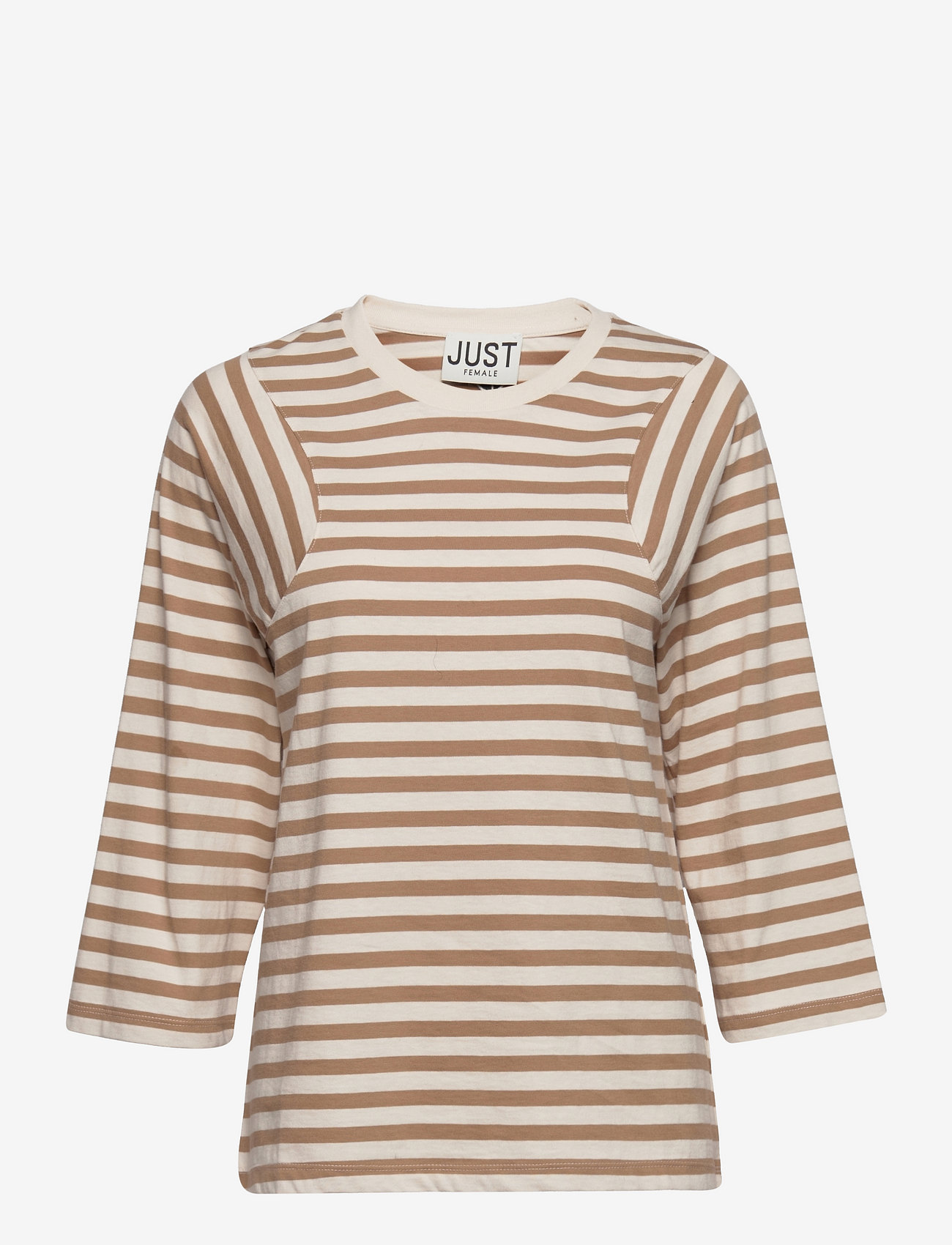 Just Female - Never tee - t-shirt & tops - buttercream stripe - 0