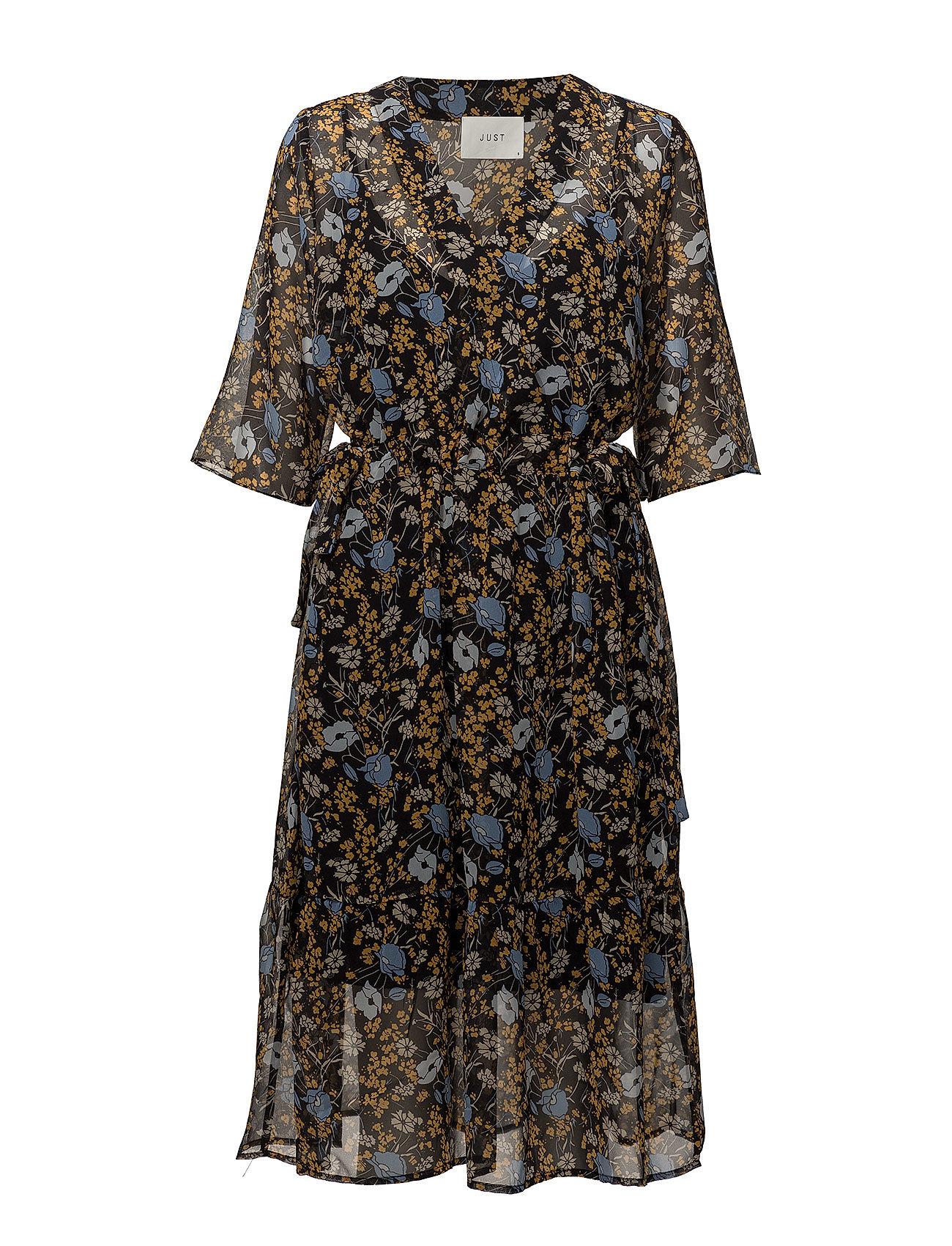Image of Antonin Dress Knælang Kjole Sort JUST FEMALE (3067534467)