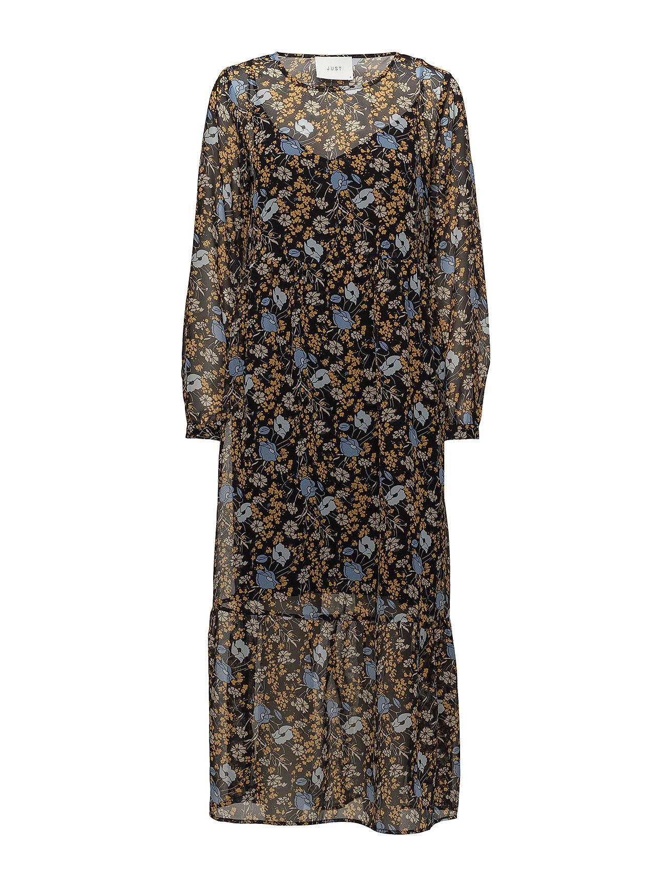 Image of Antonin Maxi Dress Knælang Kjole Gul JUST FEMALE (3052621075)