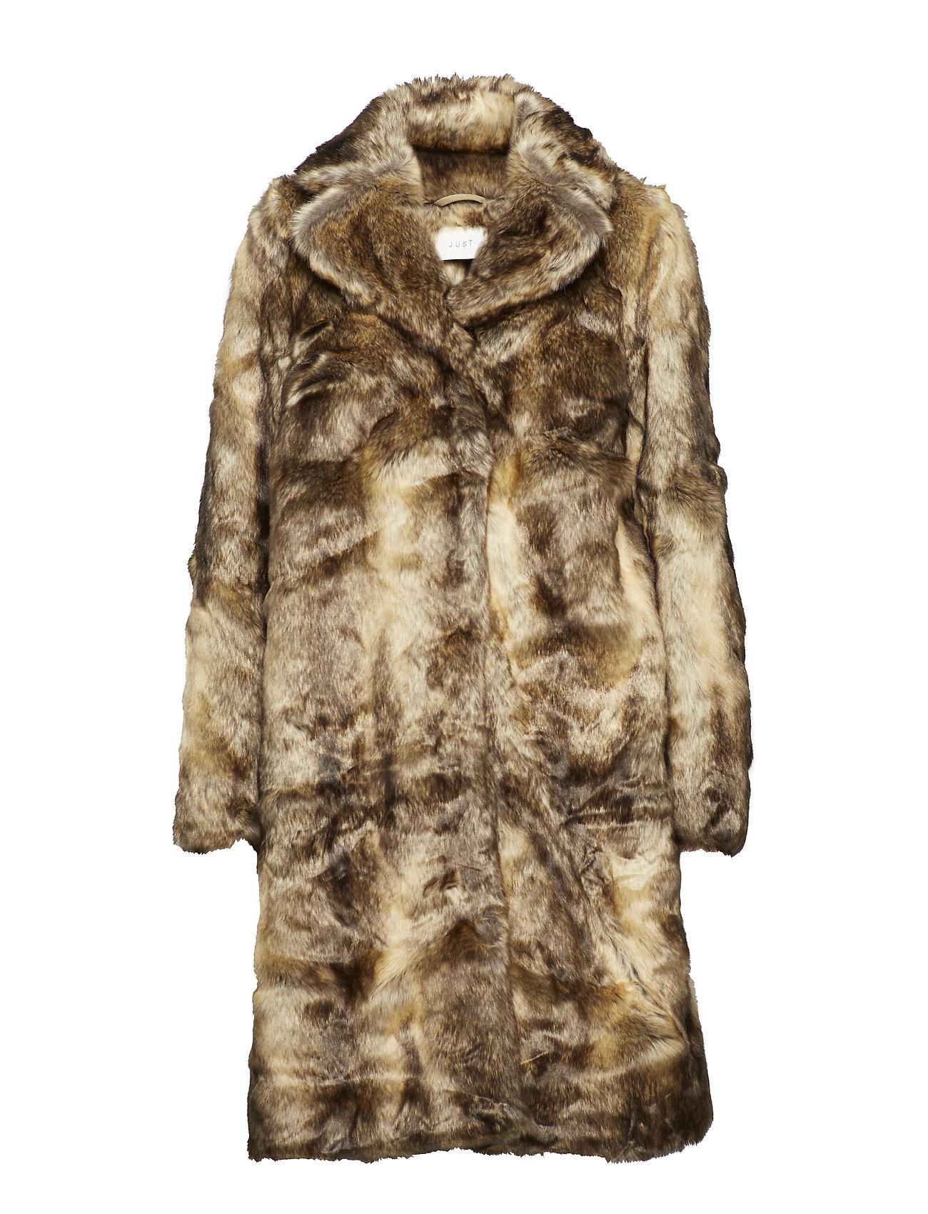 Just Female Enzo fake fur coat - NATURE FOX