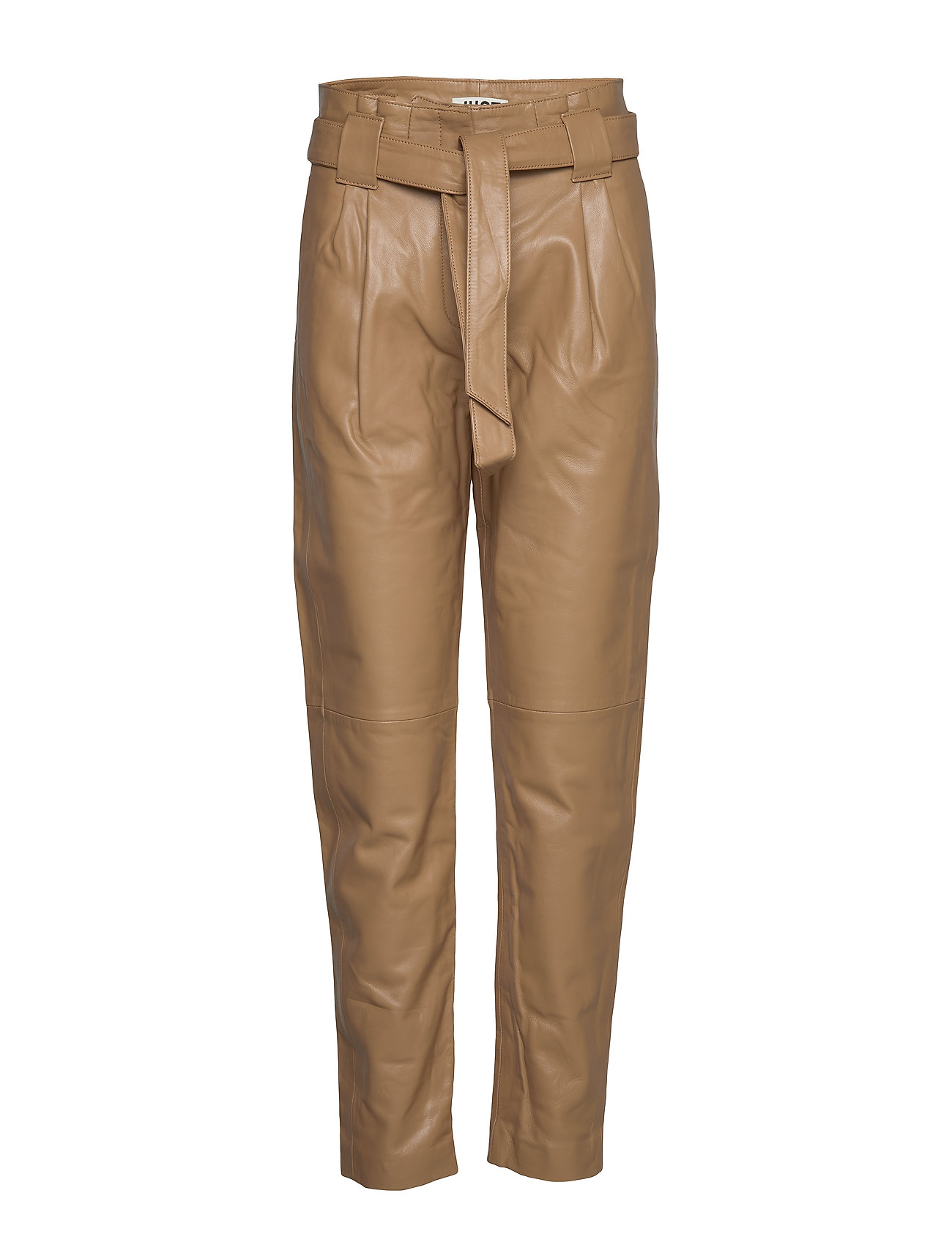 Just Female Sago leather trousers - TIGERS EYE